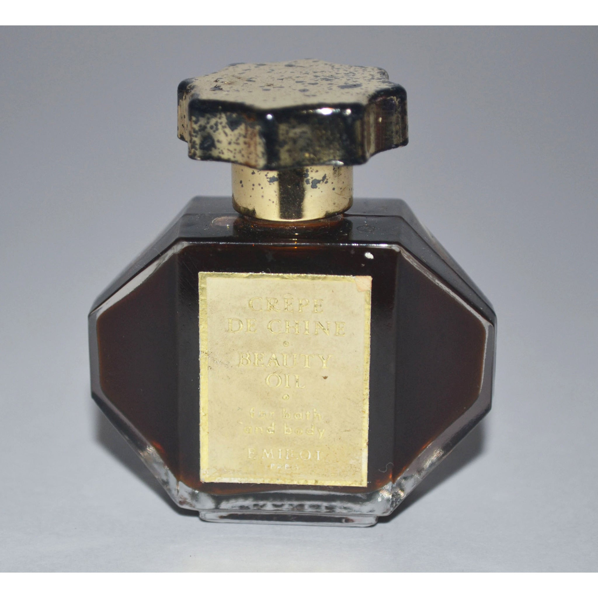 Vintage Crepe de Chine Beauty Oil By F. Millot