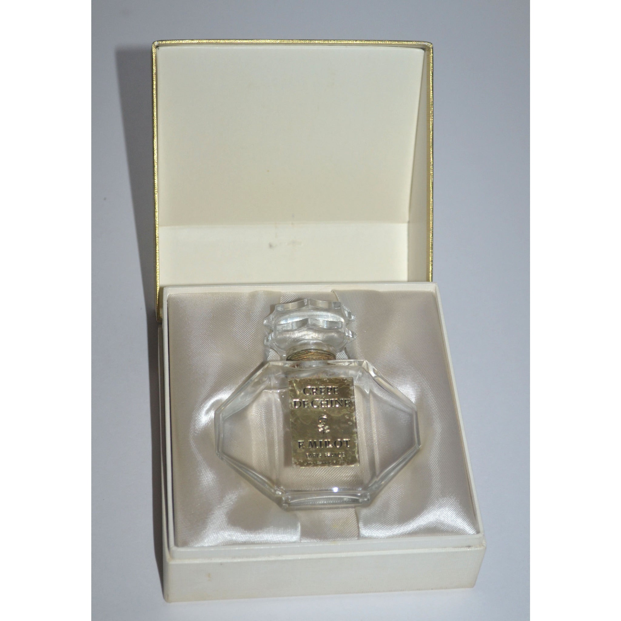 Vintage Crepe de Chine Perfume Bottle By F. Millot