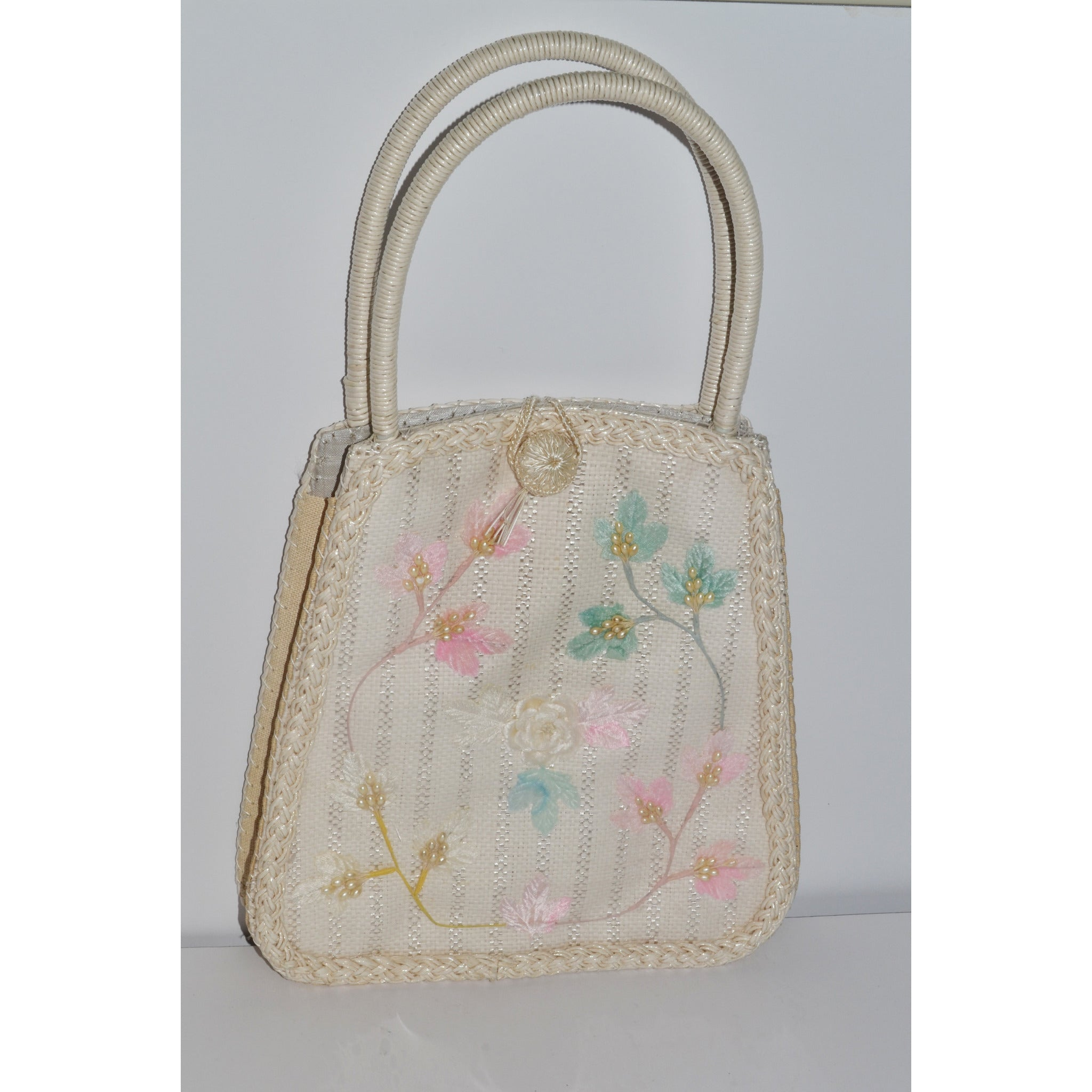 Vintage Straw Purse By Dormar