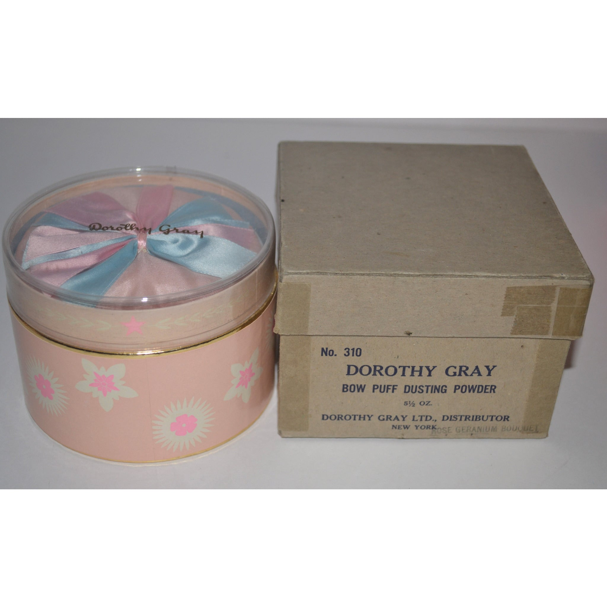 Vintage Rose Geranium Powder By Dorothy Gray