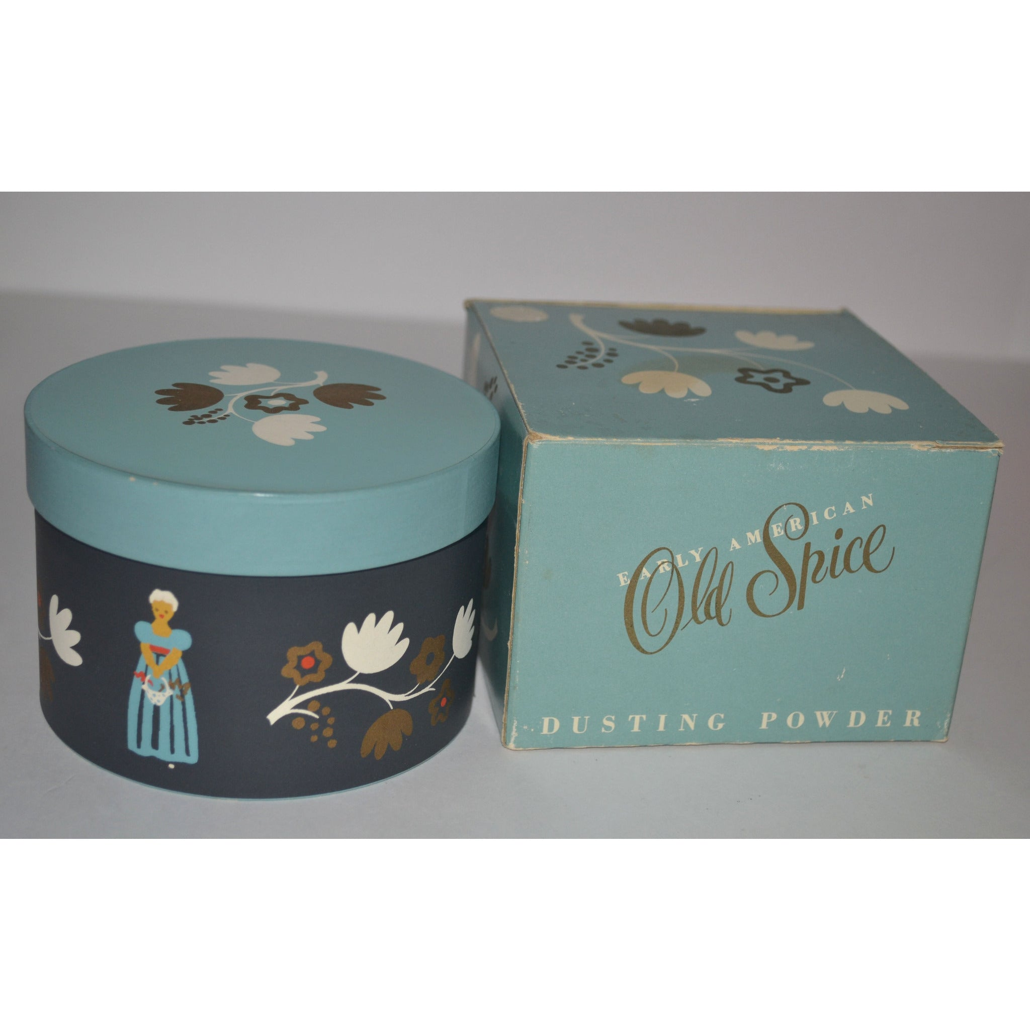 Vintage Early American Old Spice Powder By Shulton