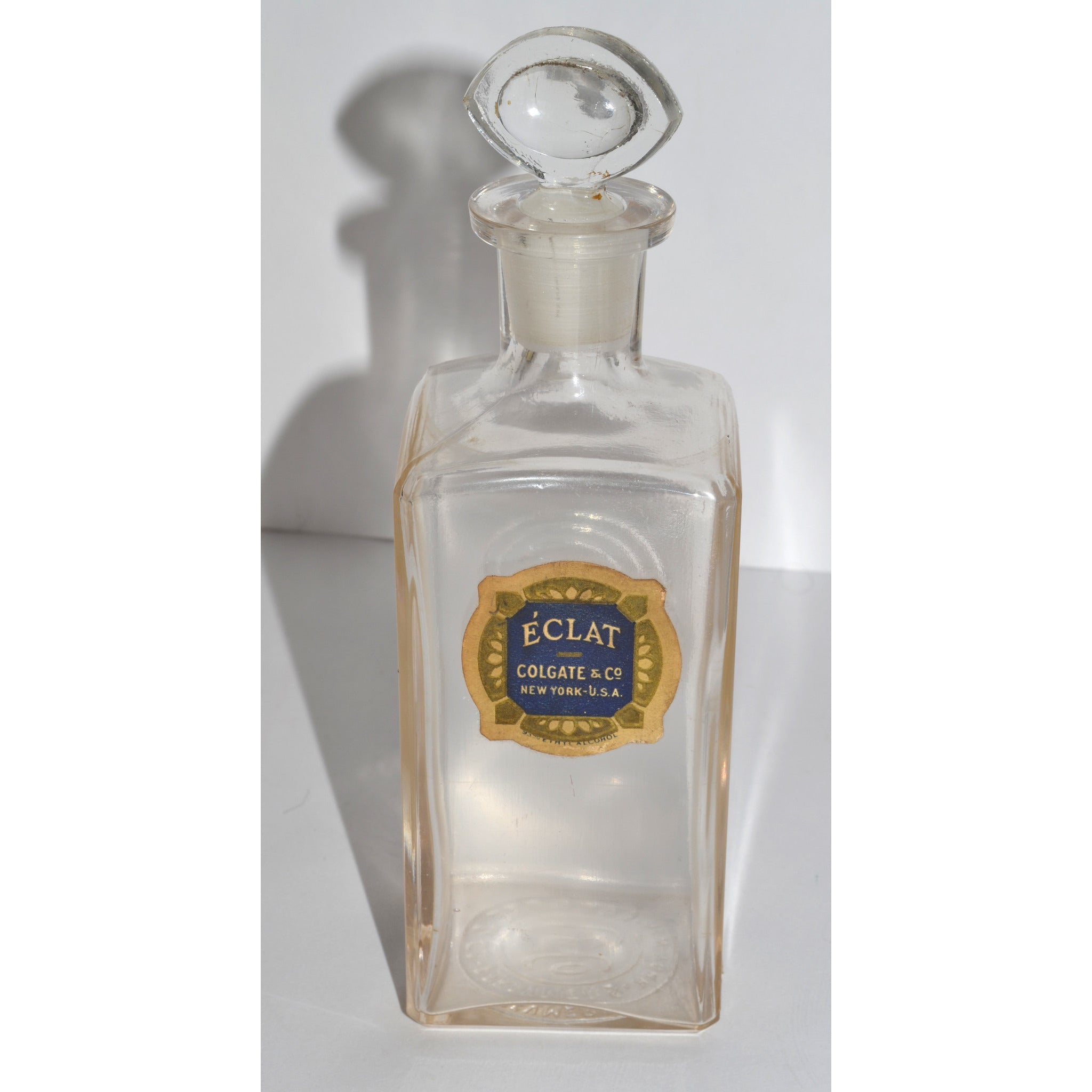 Antique Eclat Apothecary Bottle By Colgate & Co.