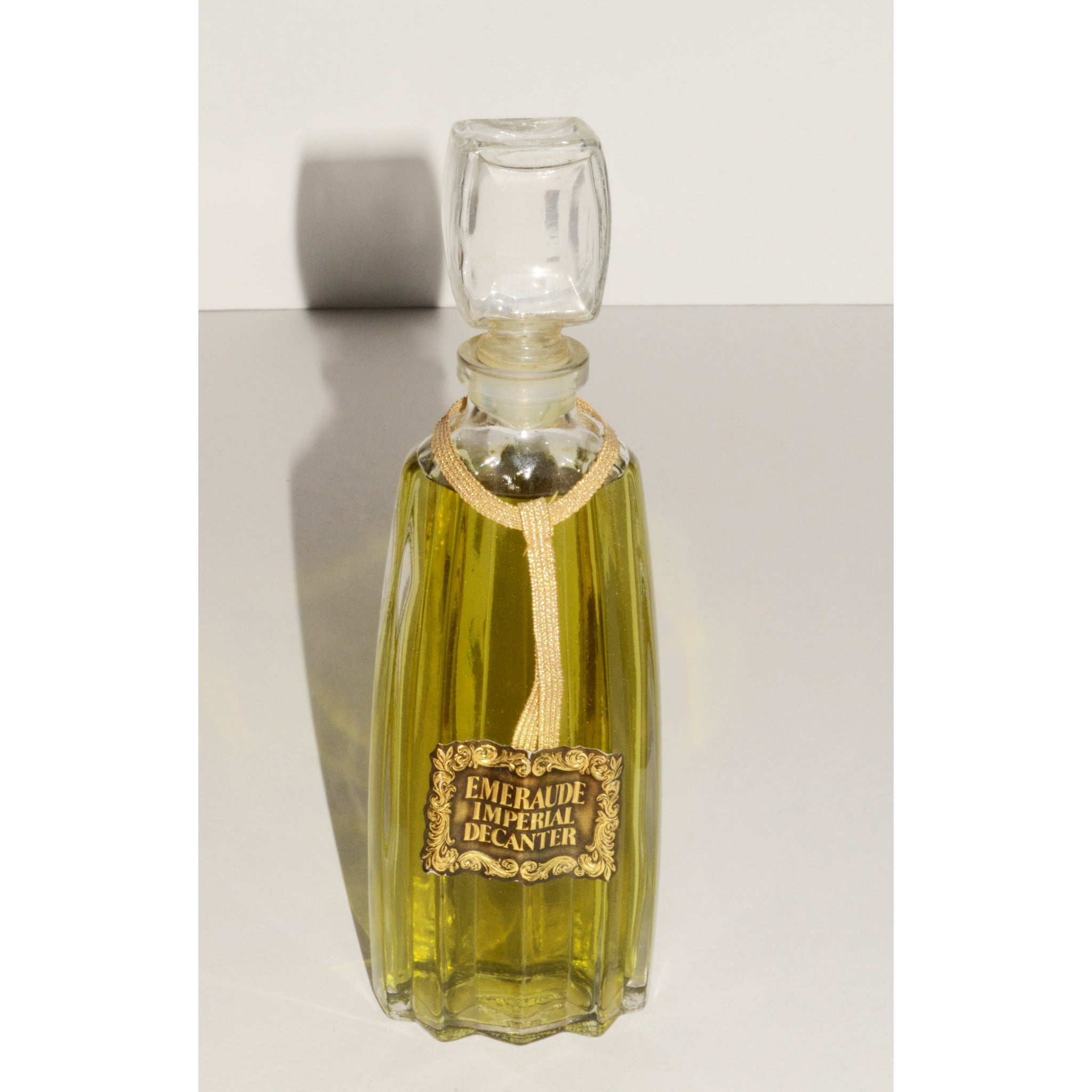 Vintage Emeraude Parfum De Toilette Decanter By Coty