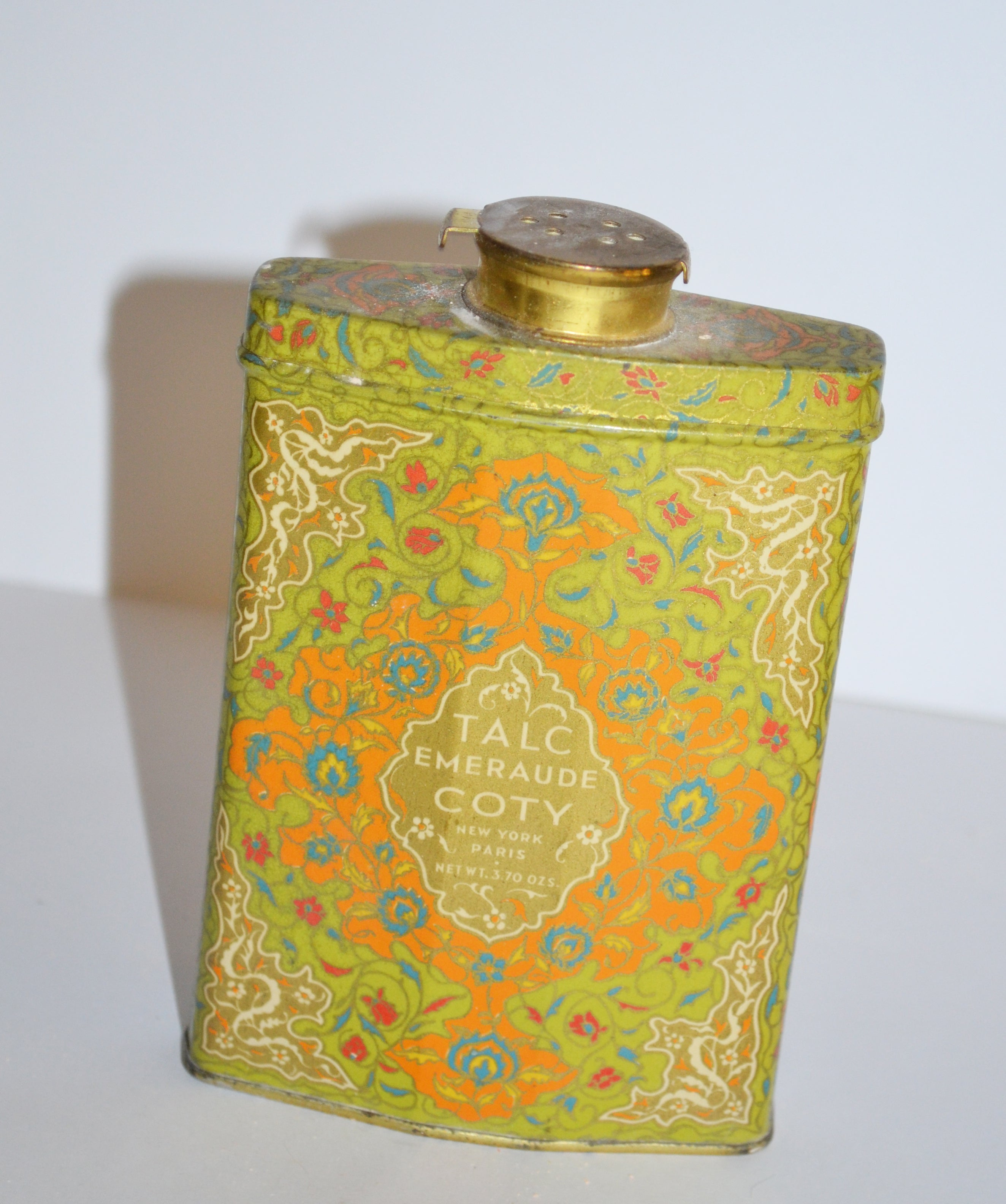 Vintage Emeraude Talc Tin By Coty