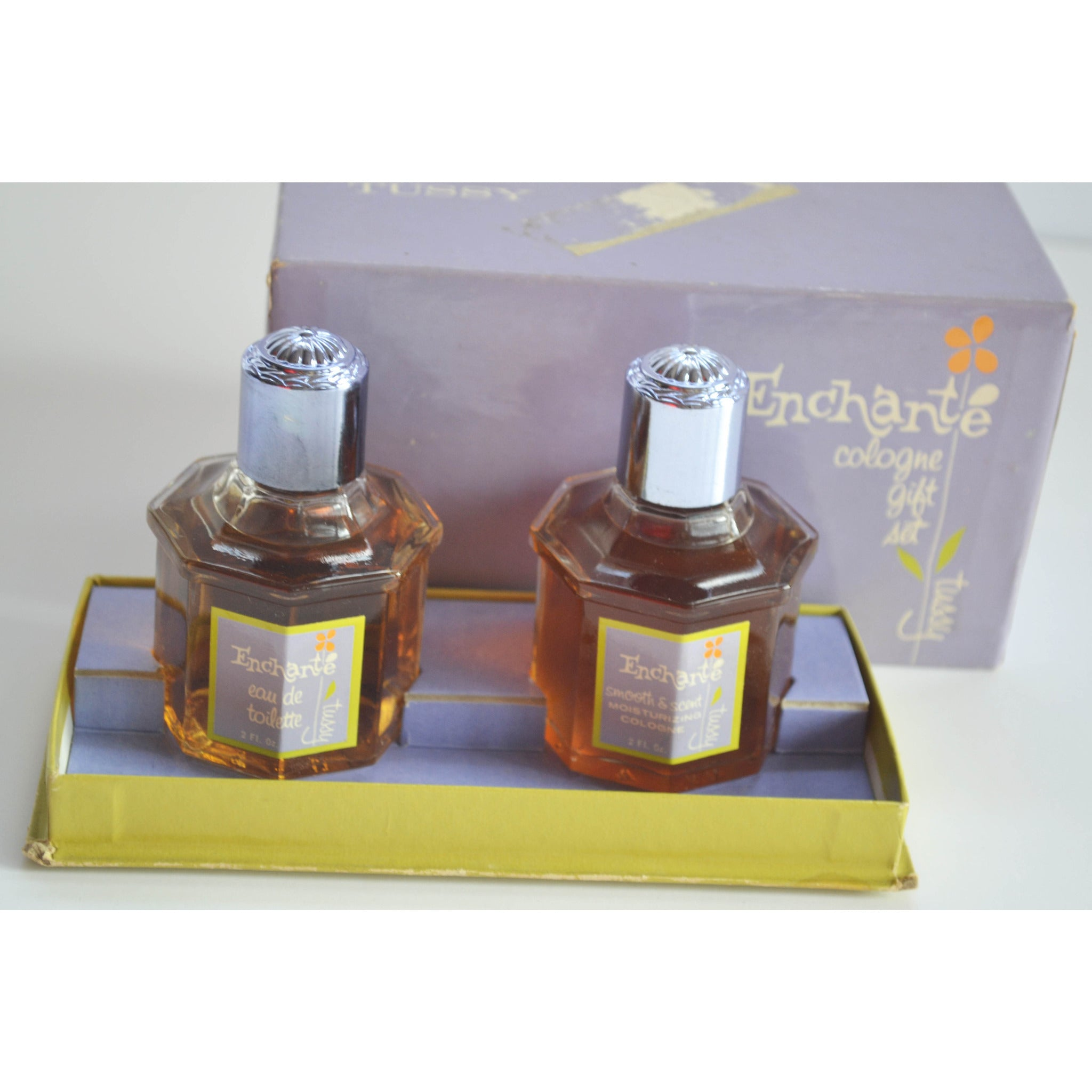 Vintage Enchante Cologne Gift Set By Tussy