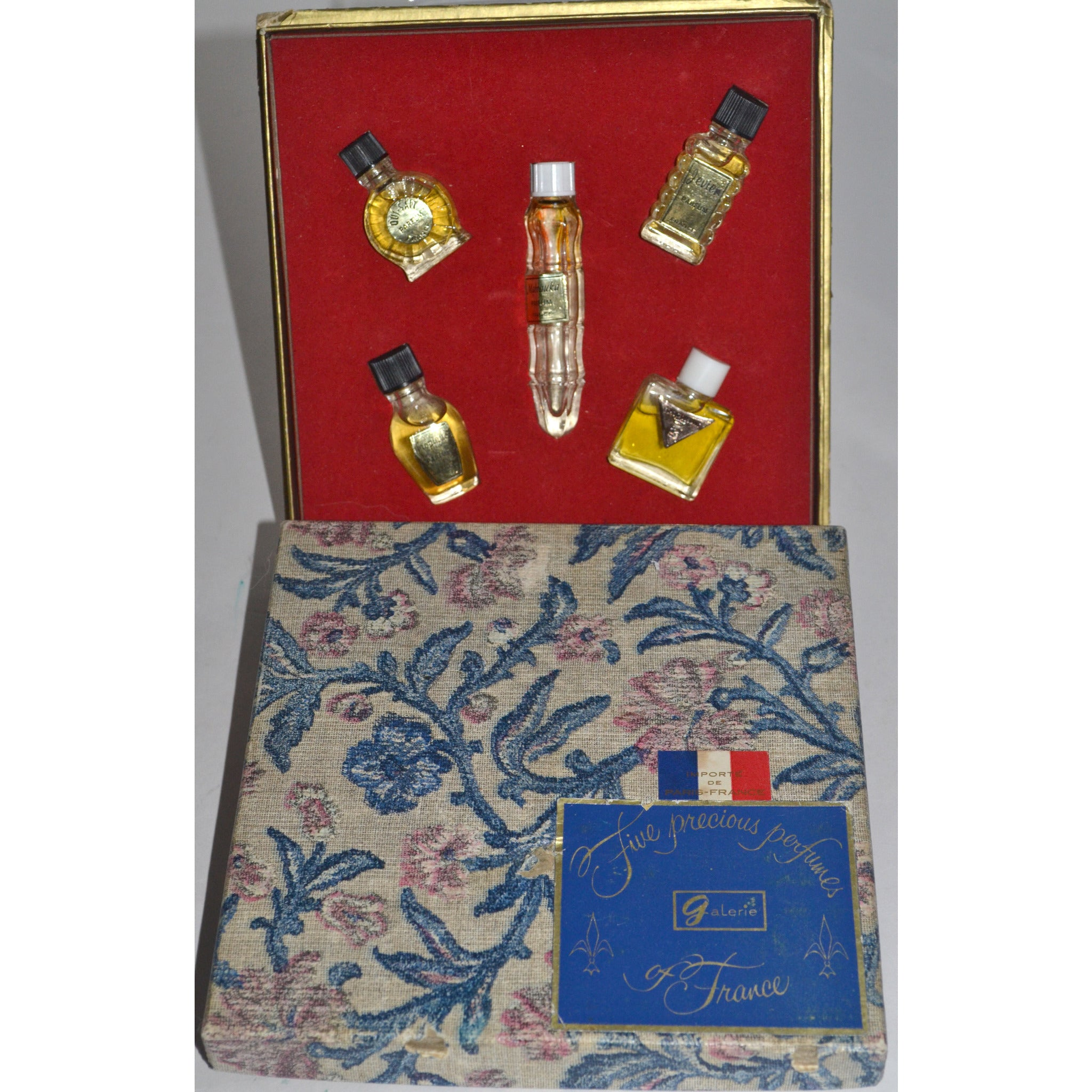Vintage Five Precious Perfumes Of France Minis By Galerie