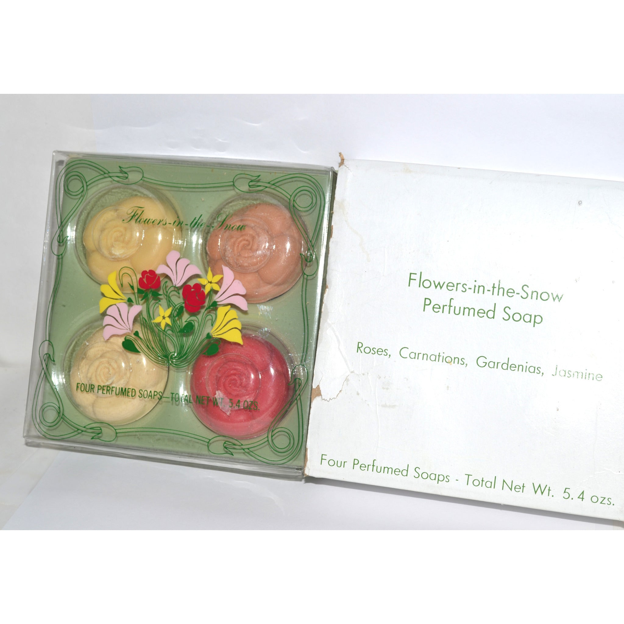 Vintage Flowers-in-the-Snow Soap Set By Dana