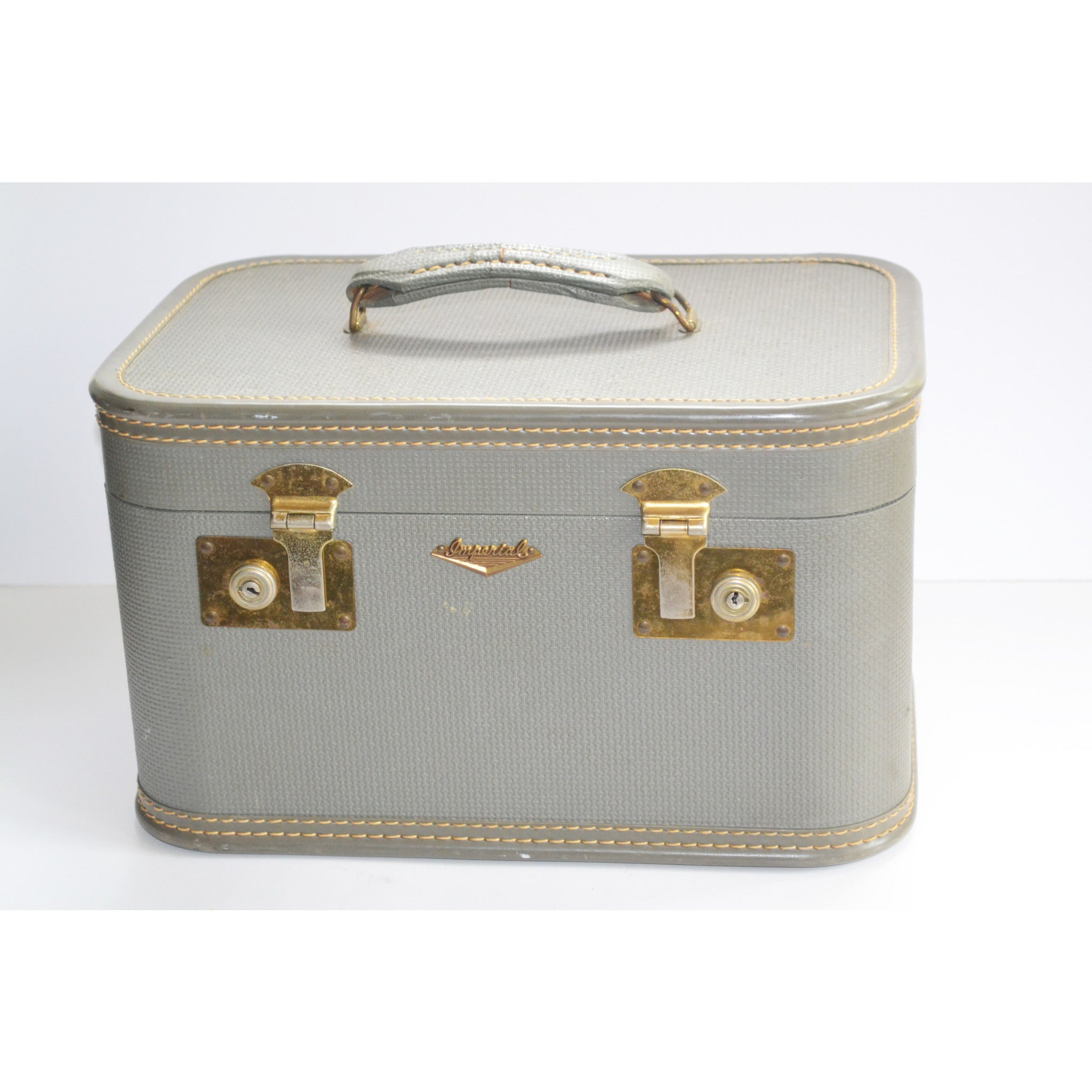 Vintage Grey Train Case By Imperial