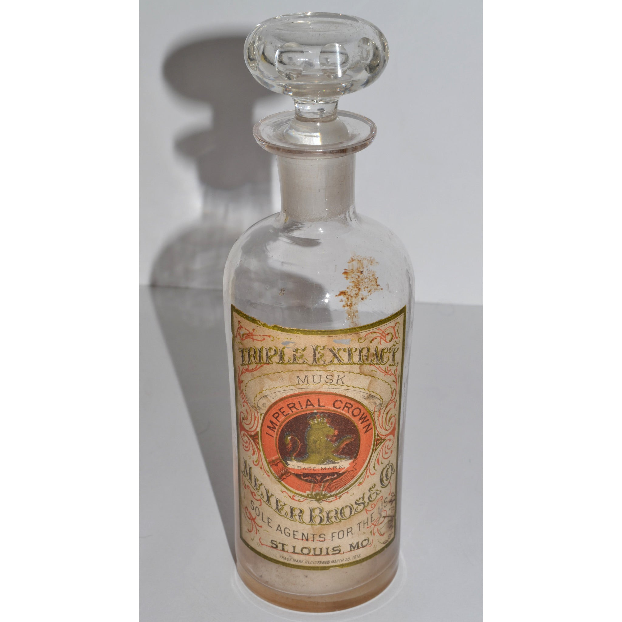 Antique Imperial Crown Musk Bottle By Meyer Bros