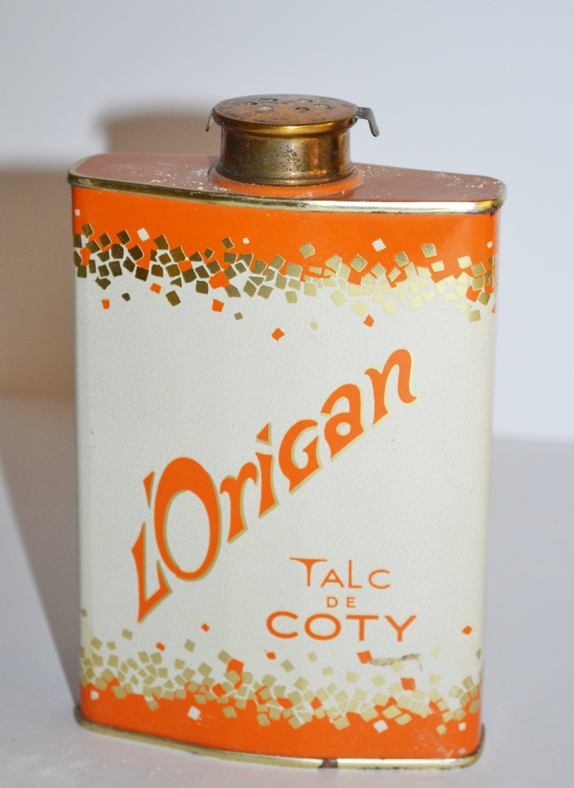Vintage L'Origan Talc Tin By Coty