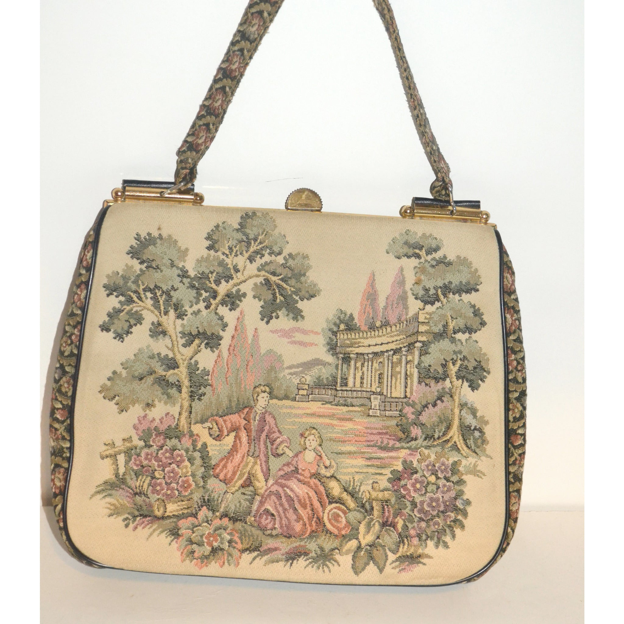 Vintage Italian Tapestry Purse By La Marquise