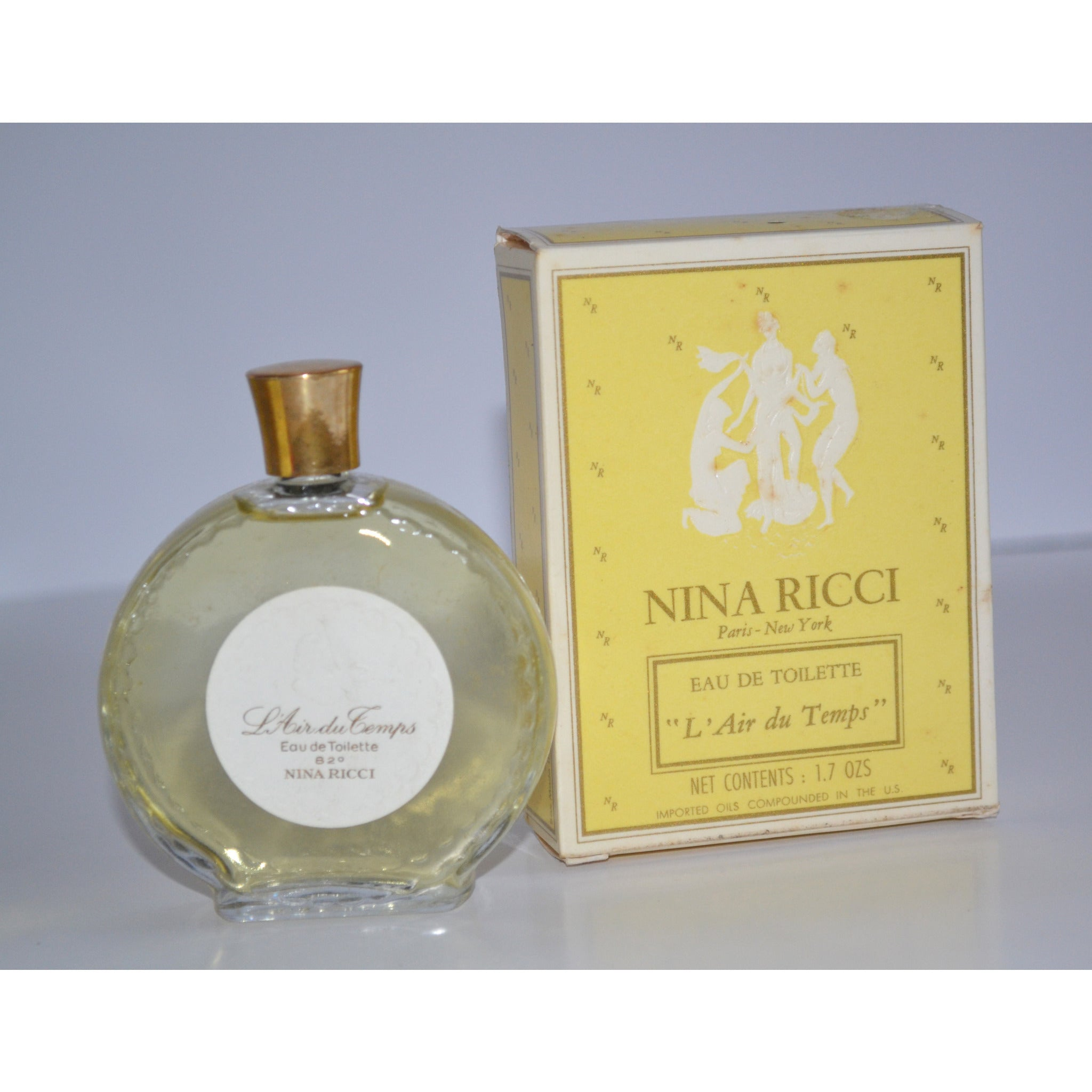 Vintage L'air du Temps Toilette By Nina Ricci