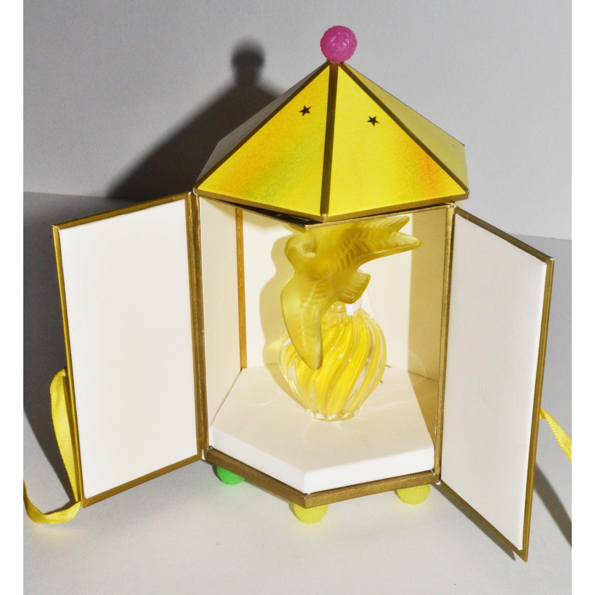Vintage L'Air Du Temps Parfum By Nina Ricci Lalique Yellow Doves