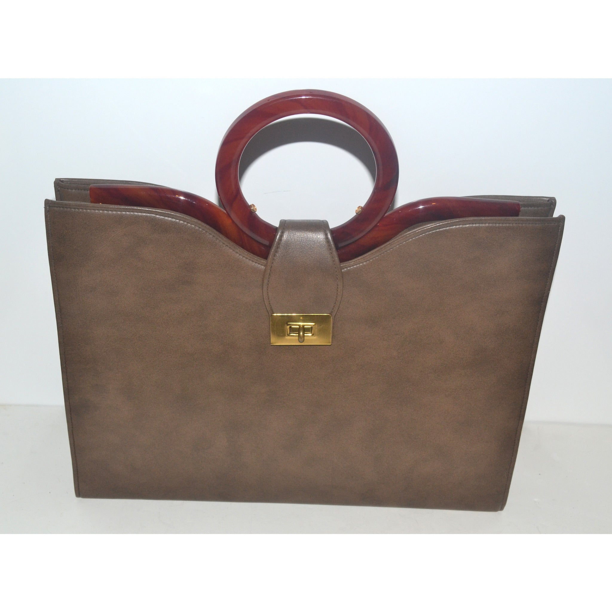 Vintage Structured Handbag by Lou Taylor
