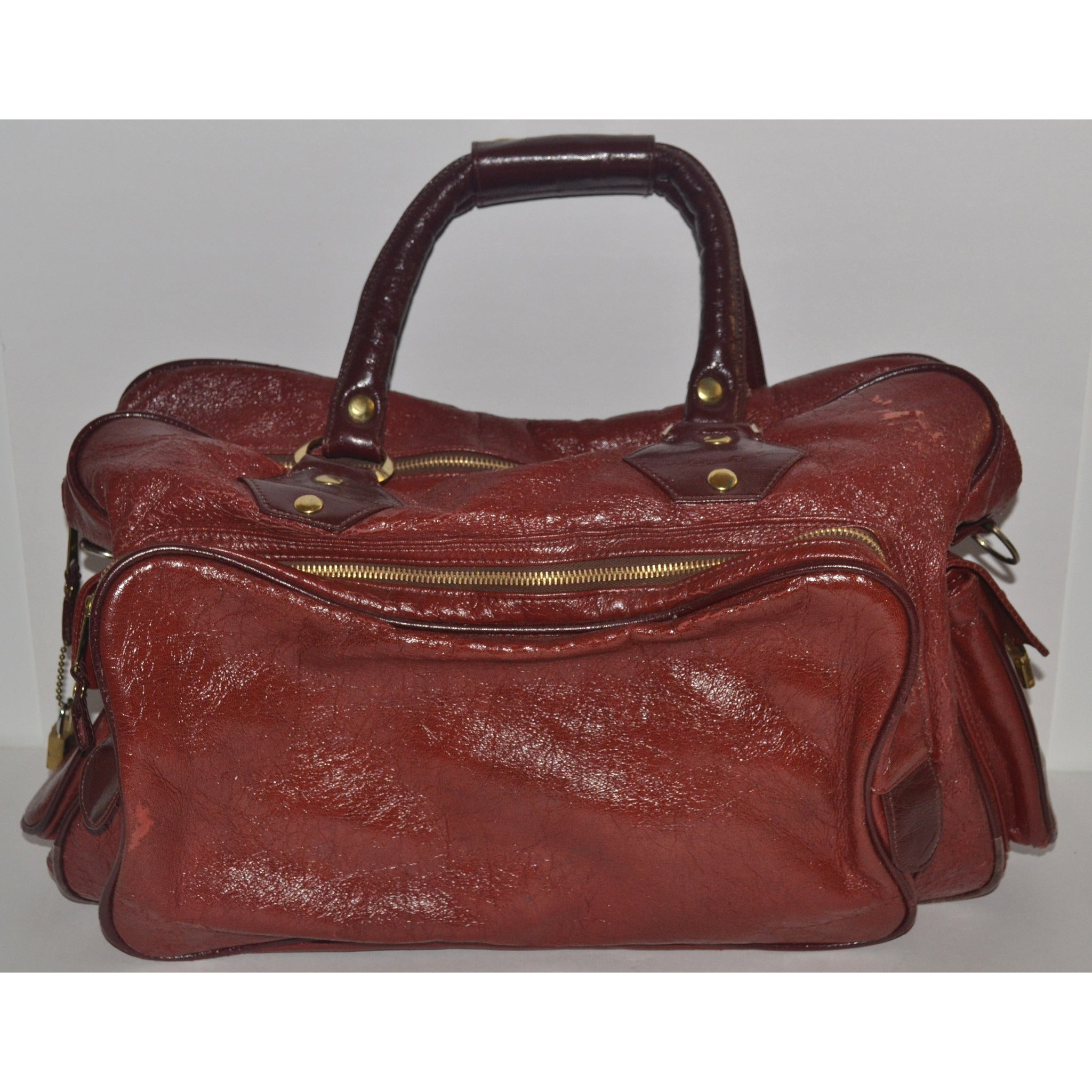Vintage Burgundy Travel Bag By Monarch Luggage
