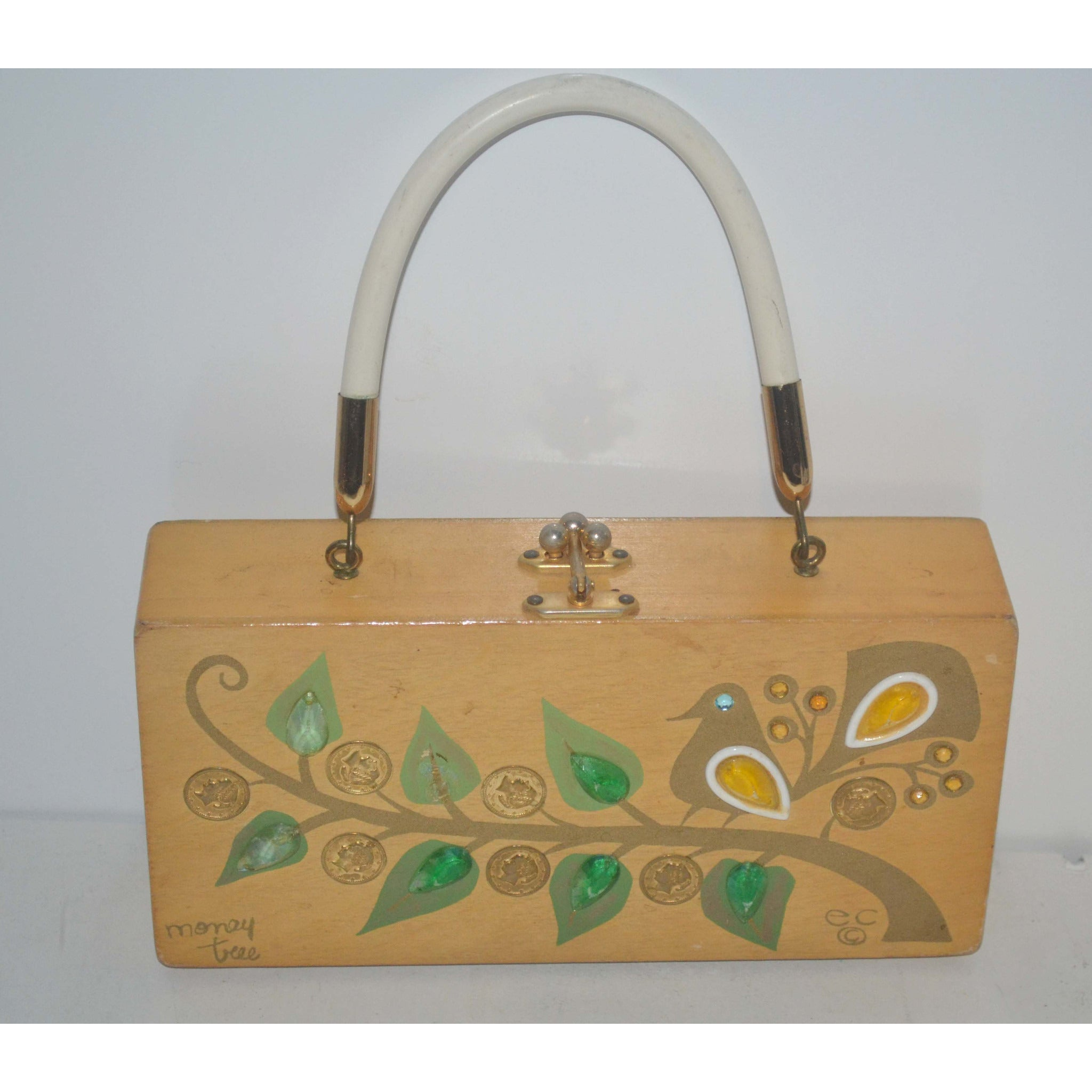 Vintage Money Tree Box Purse By Enid Collins