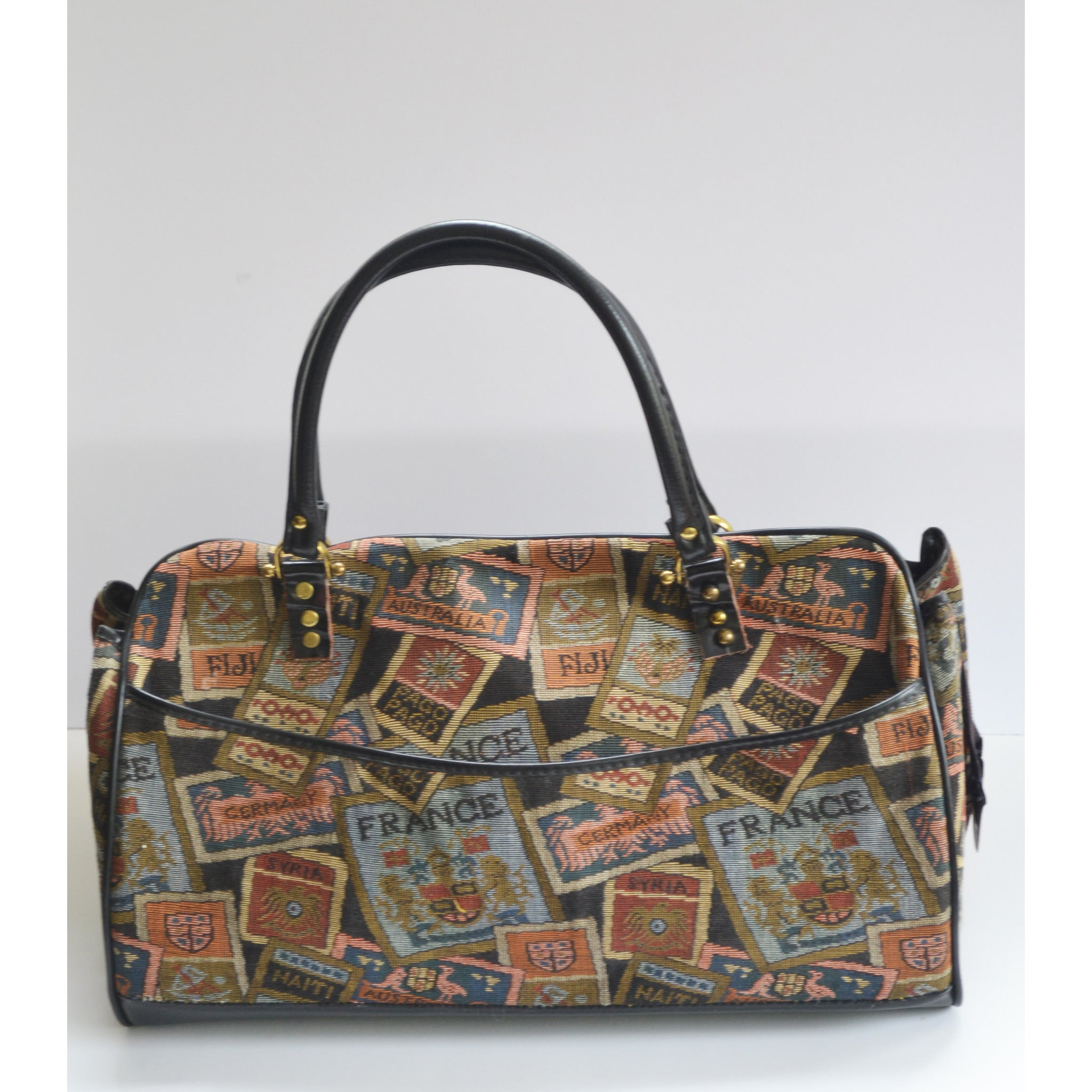 Vintage World Travel Carry-All Bag By Munro Tapestry