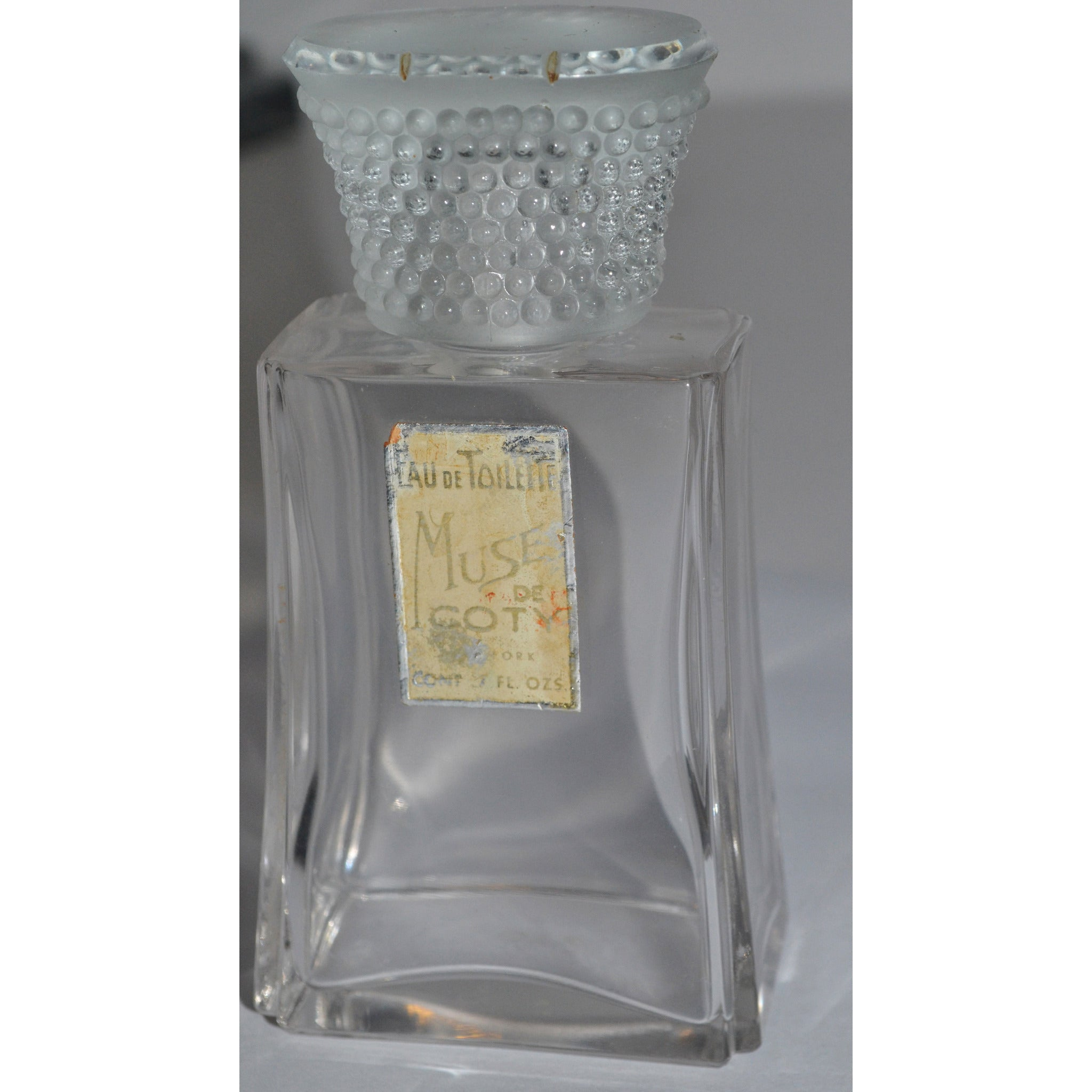 Vintage Muse Eau De Toilette Baccarat Bottle By Coty