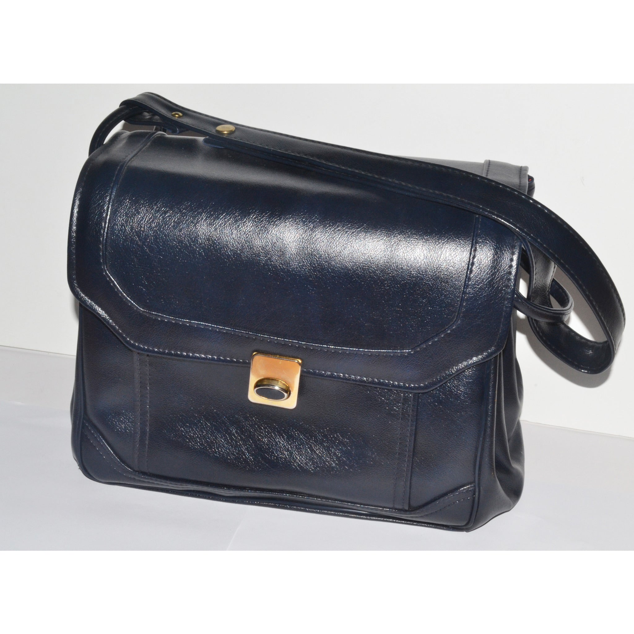 Vintage Navy Square Fashion Purse