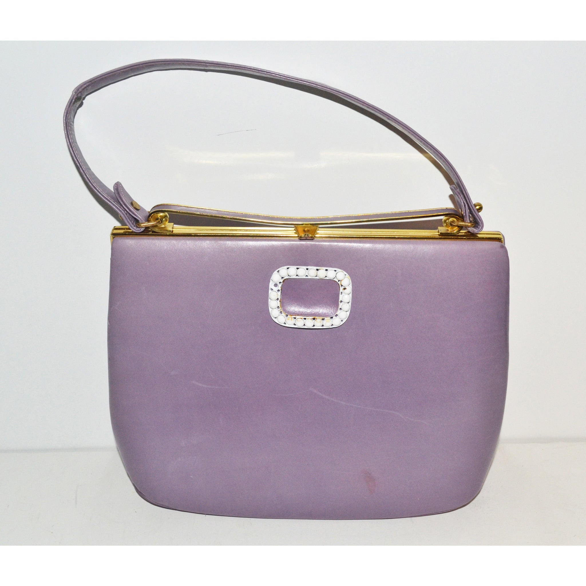 Vintage Lilac Leather Purse By Nicholas Reich