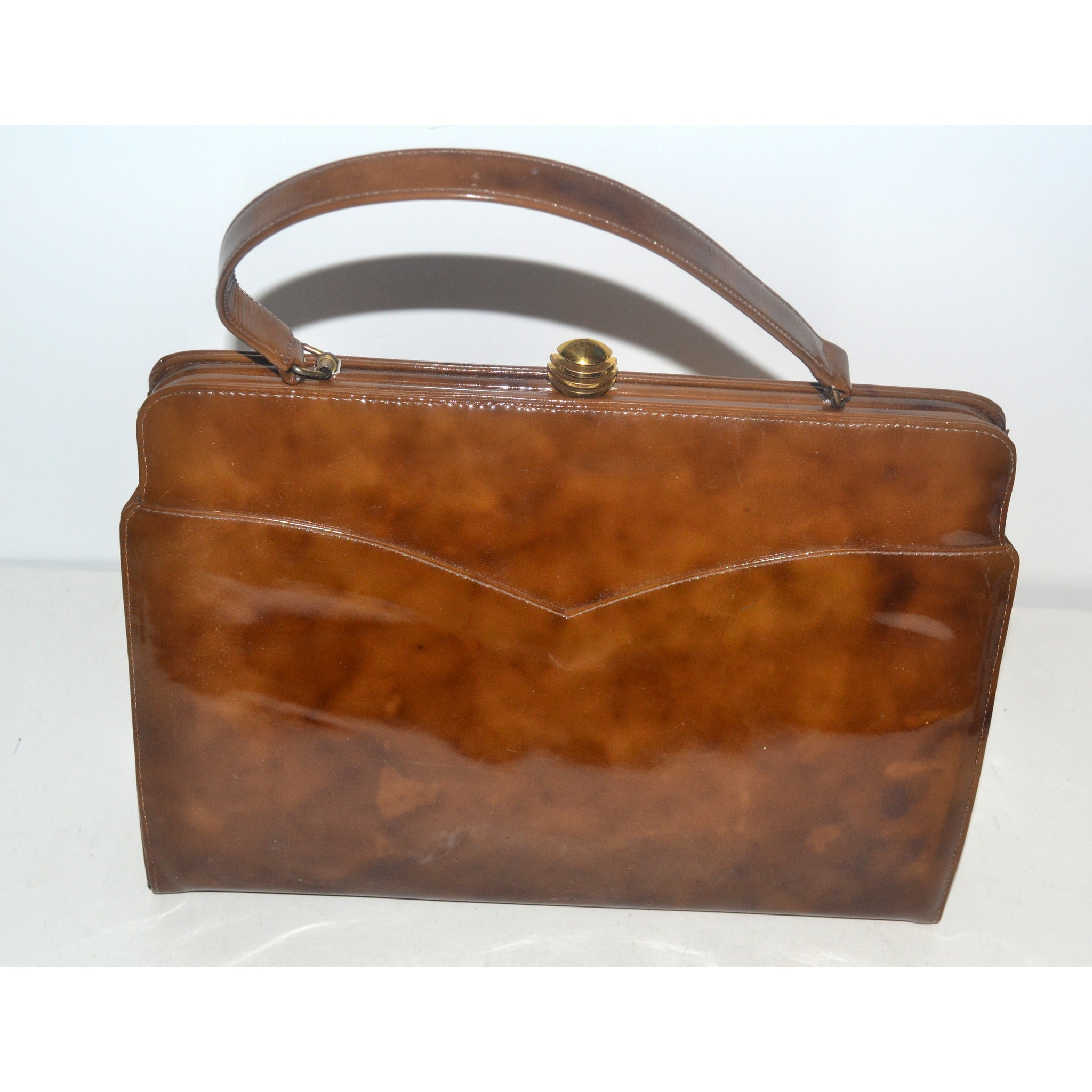 Vintage Brown High Gloss Purse by O'Connor & Goldberg