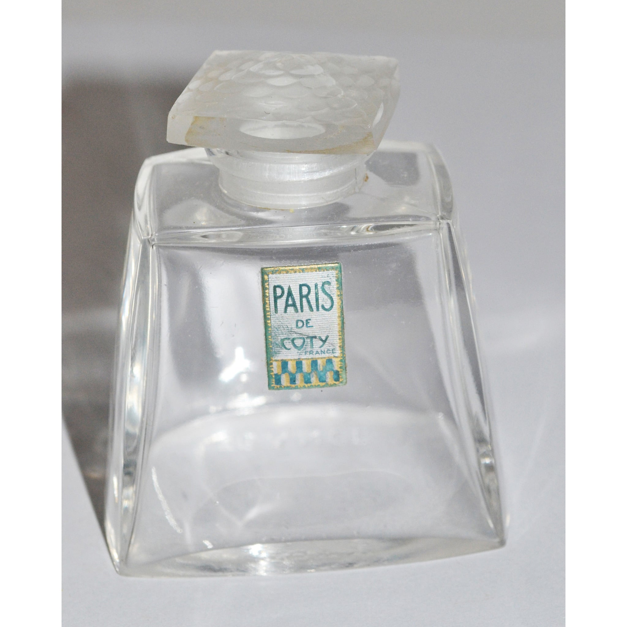 Vintage Paris Perfume Lalique Bottle By Coty