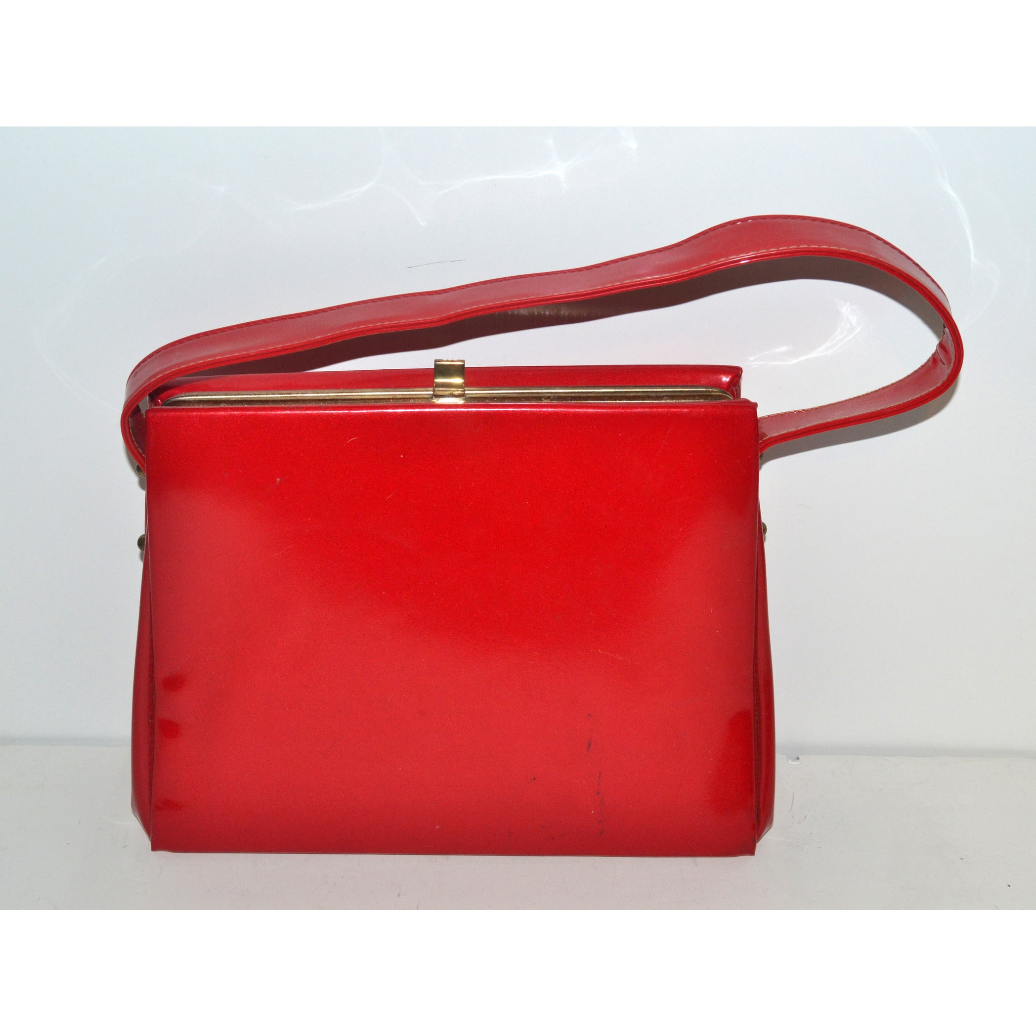 Vintage Candy Red Patent Leather Purse