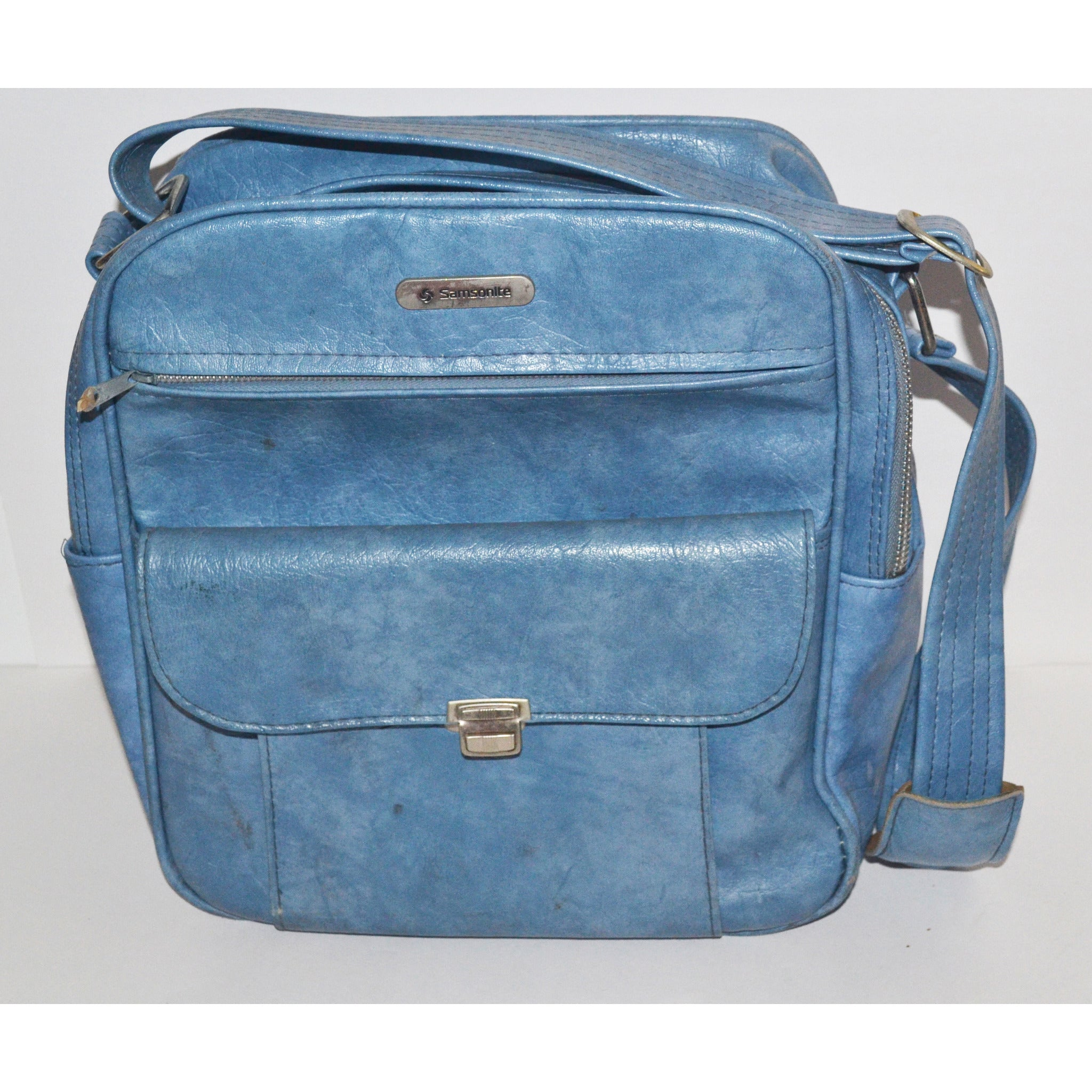 Blue Travel Bag Luggage By Samsonite