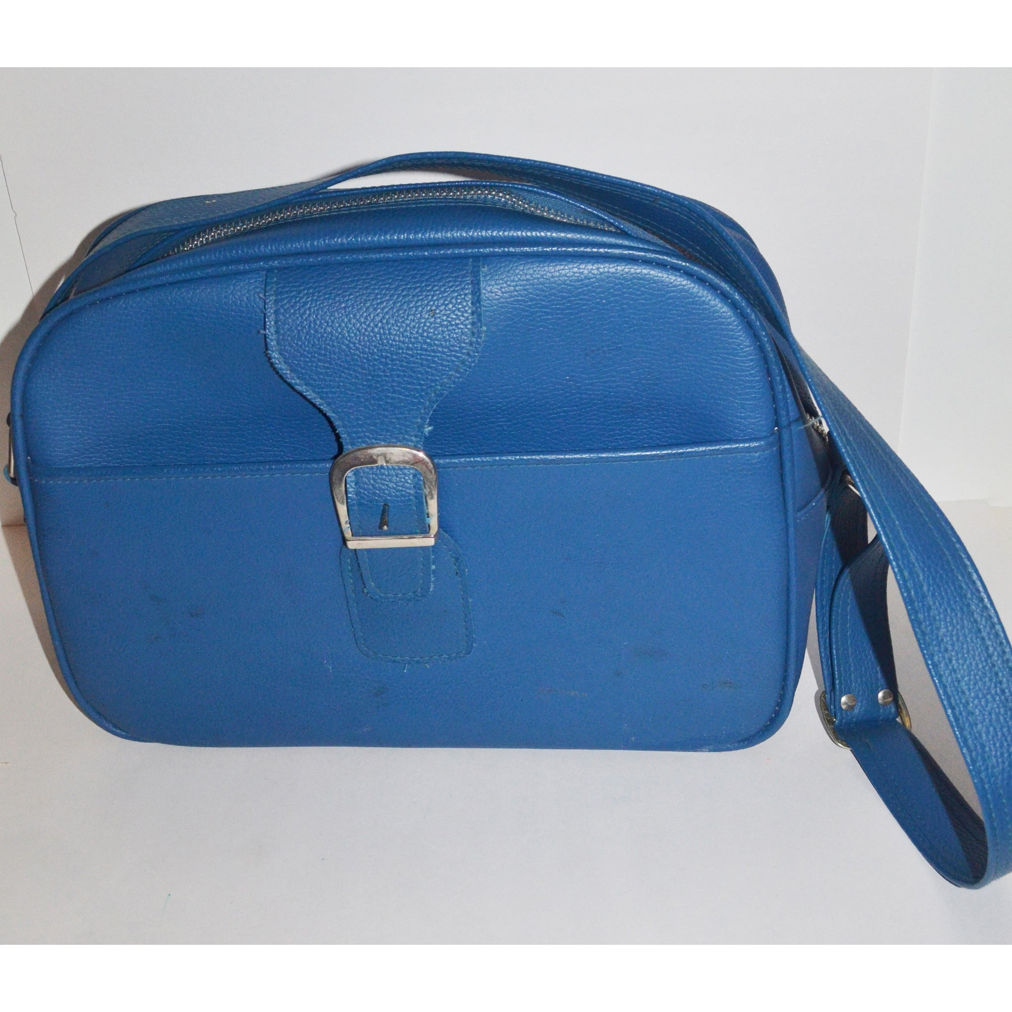 Vintage Blue Saturn II Travel Luggage By Samsonite
