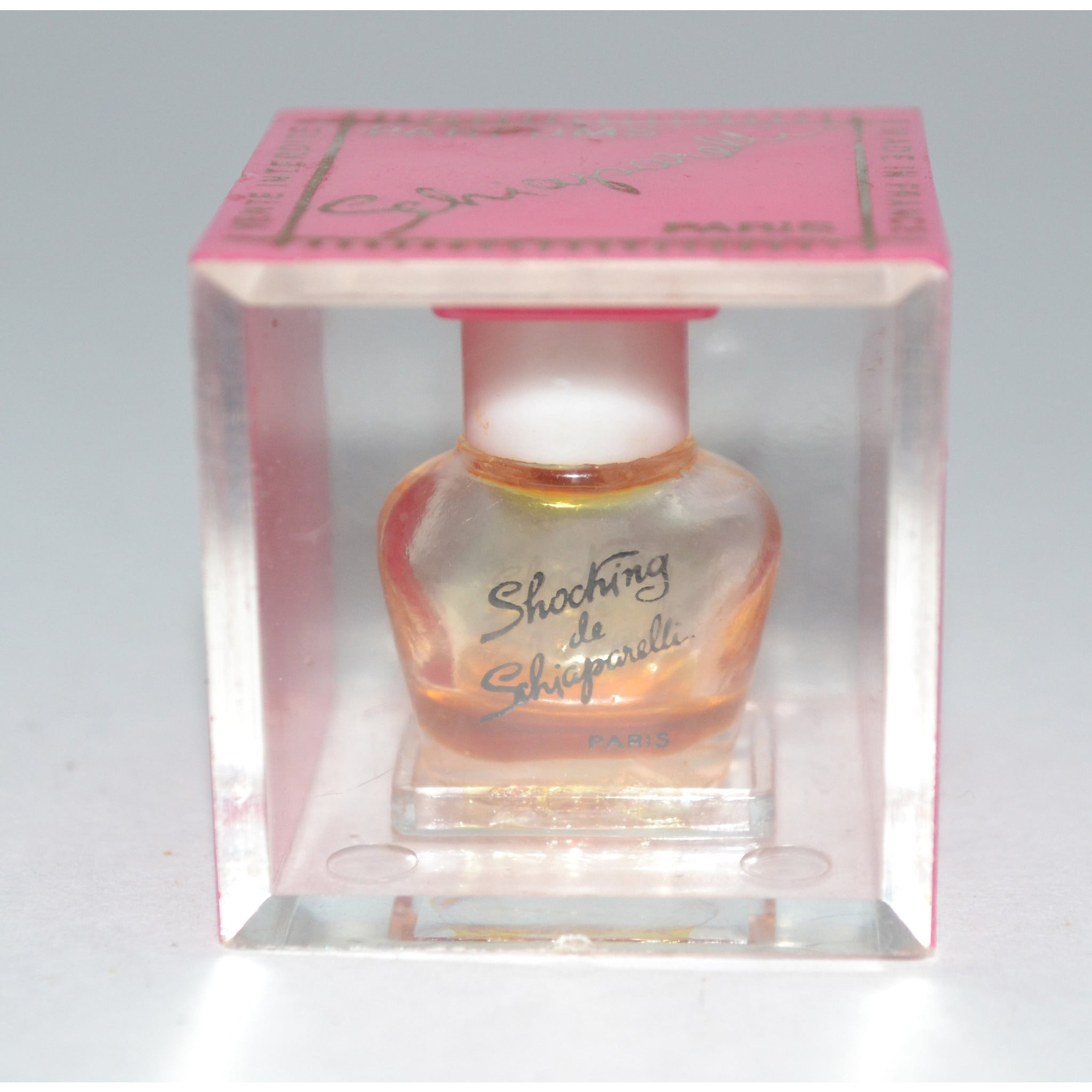 Vintage Shocking Mini Parfum In Case By Schiaparelli