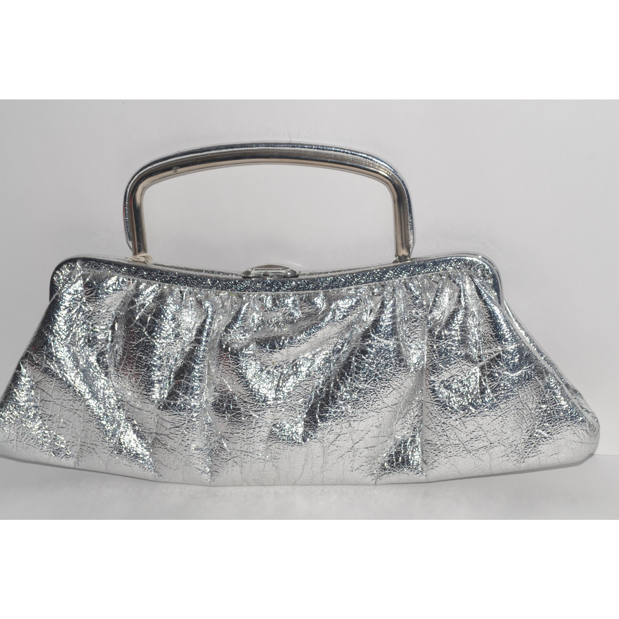 Vintage Silver Lame Clutch Purse