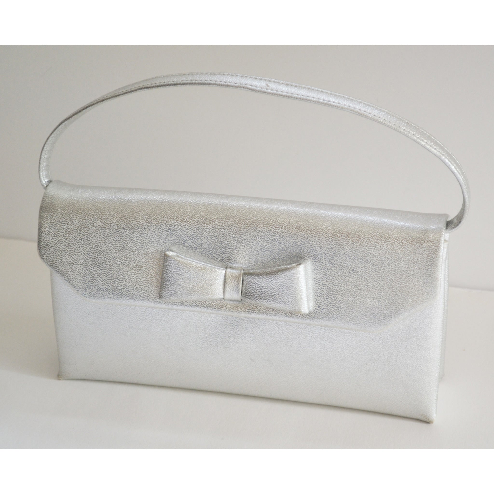 Vintage Silver Lame Leather Purse