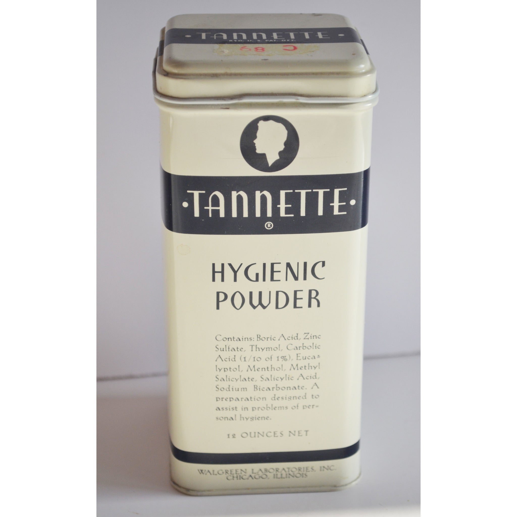Vintage Tannette Hygenic Powder By Walgreens