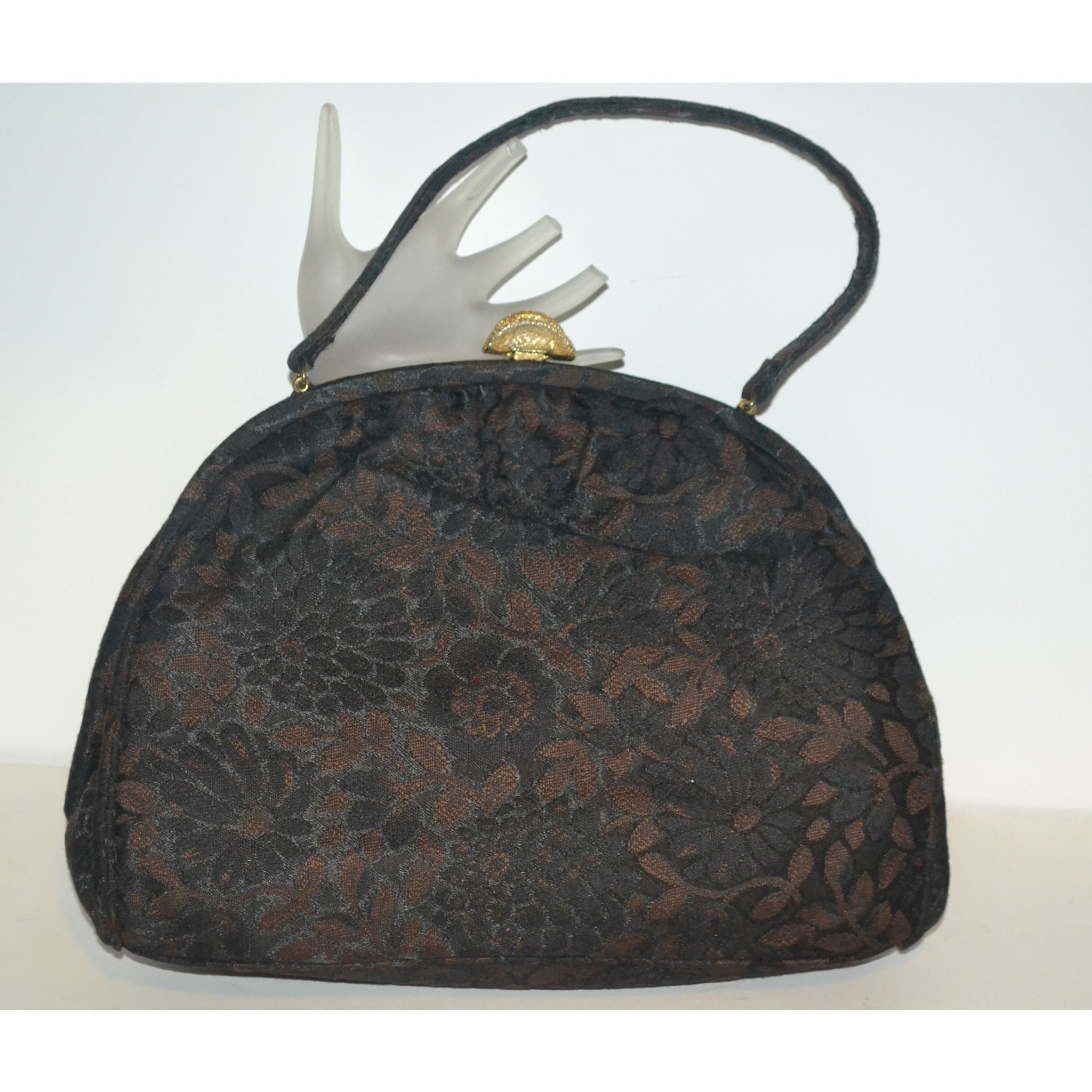 Vintage Brown Flocked Purse By Theodor of California