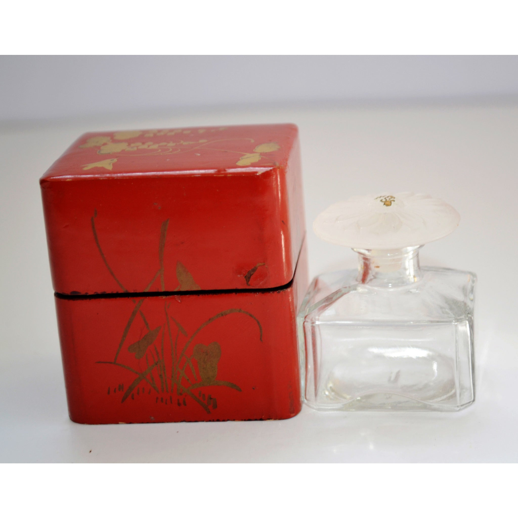 Vintage Vantine's Perfume Bottle & Laquered Box