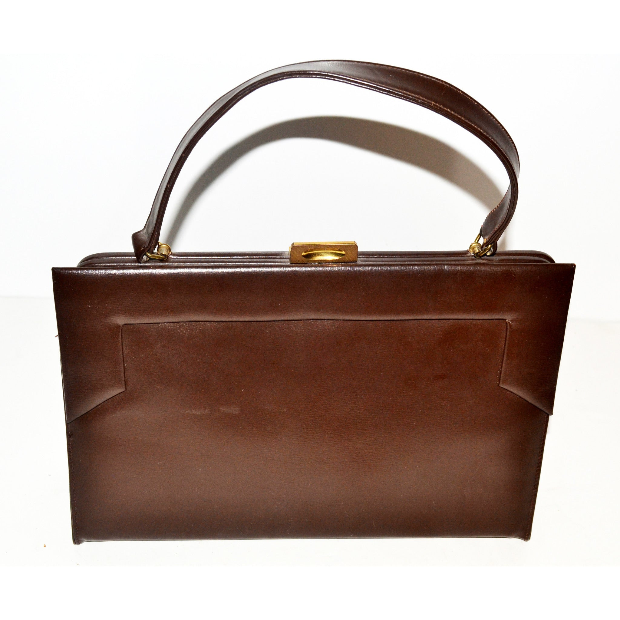 Vintage Brown Square Purse By Viki Original