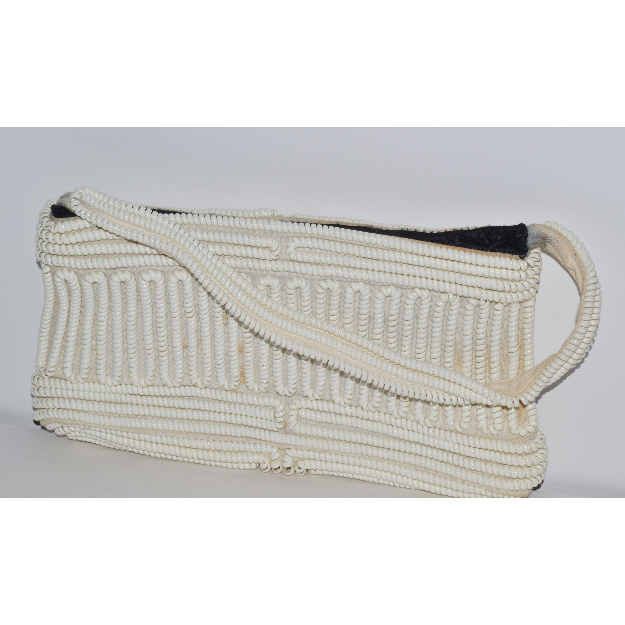 Vintage White Phone Cord Purse