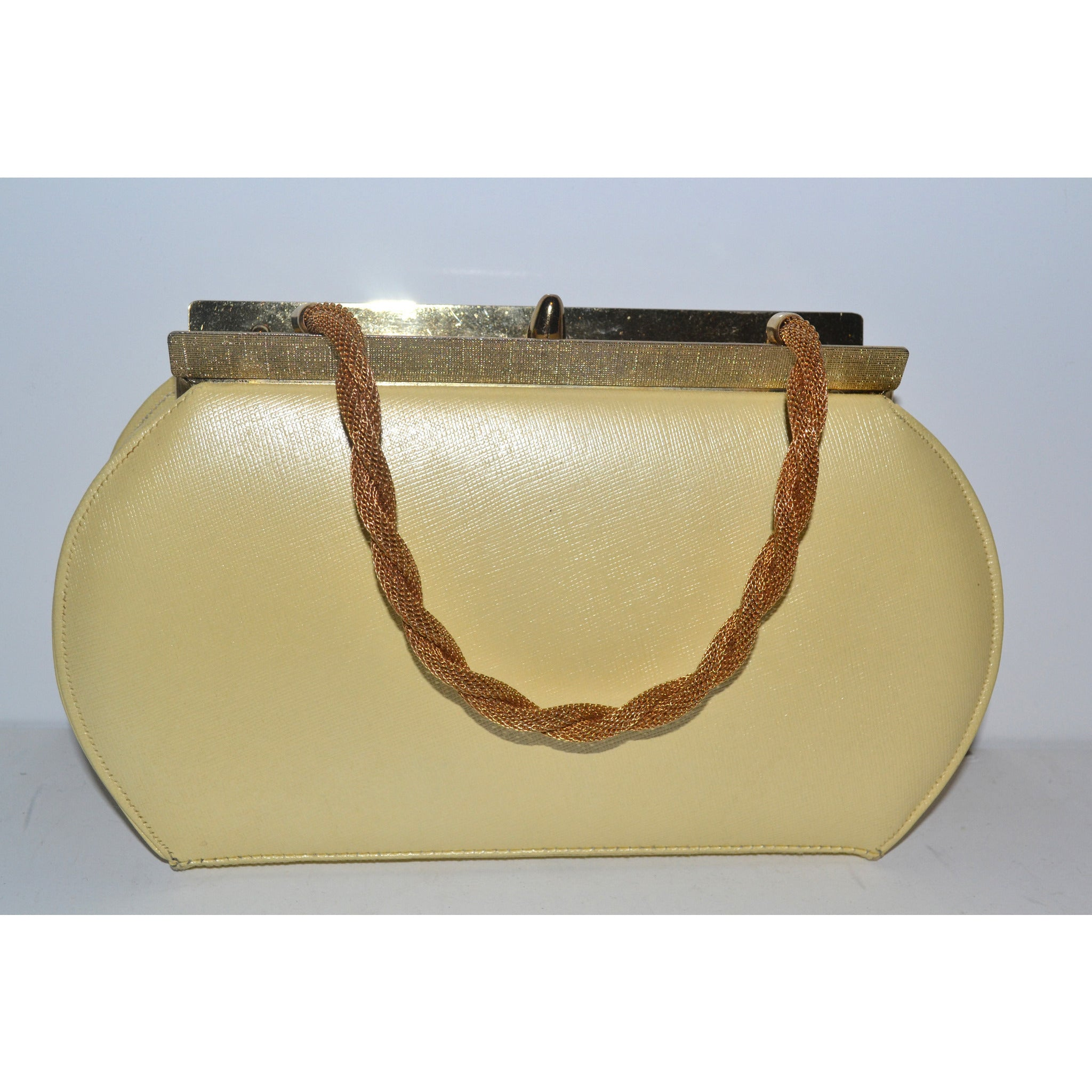 Vintage Yellow Leather Purse