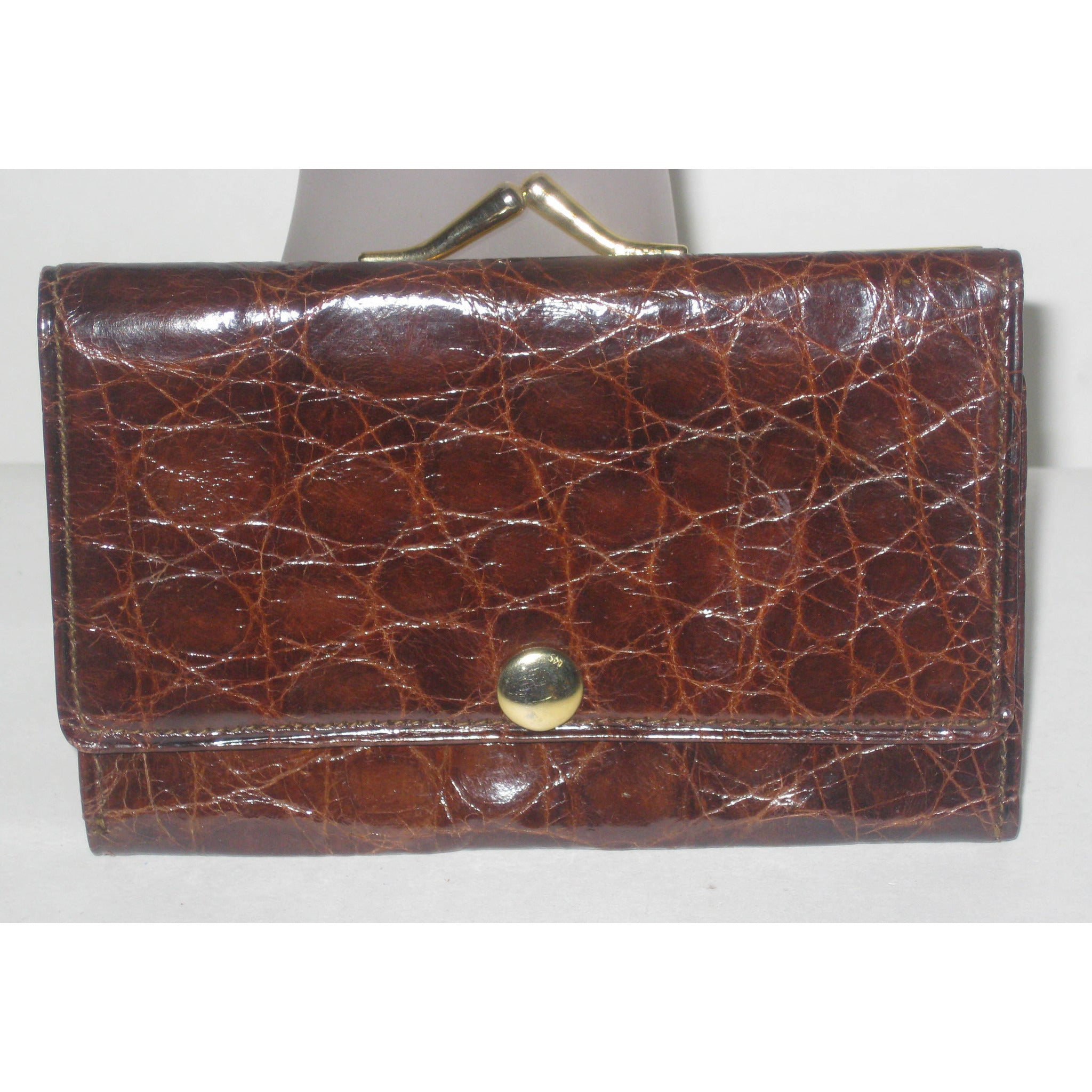 Vintage Alligator Coin Wallet
