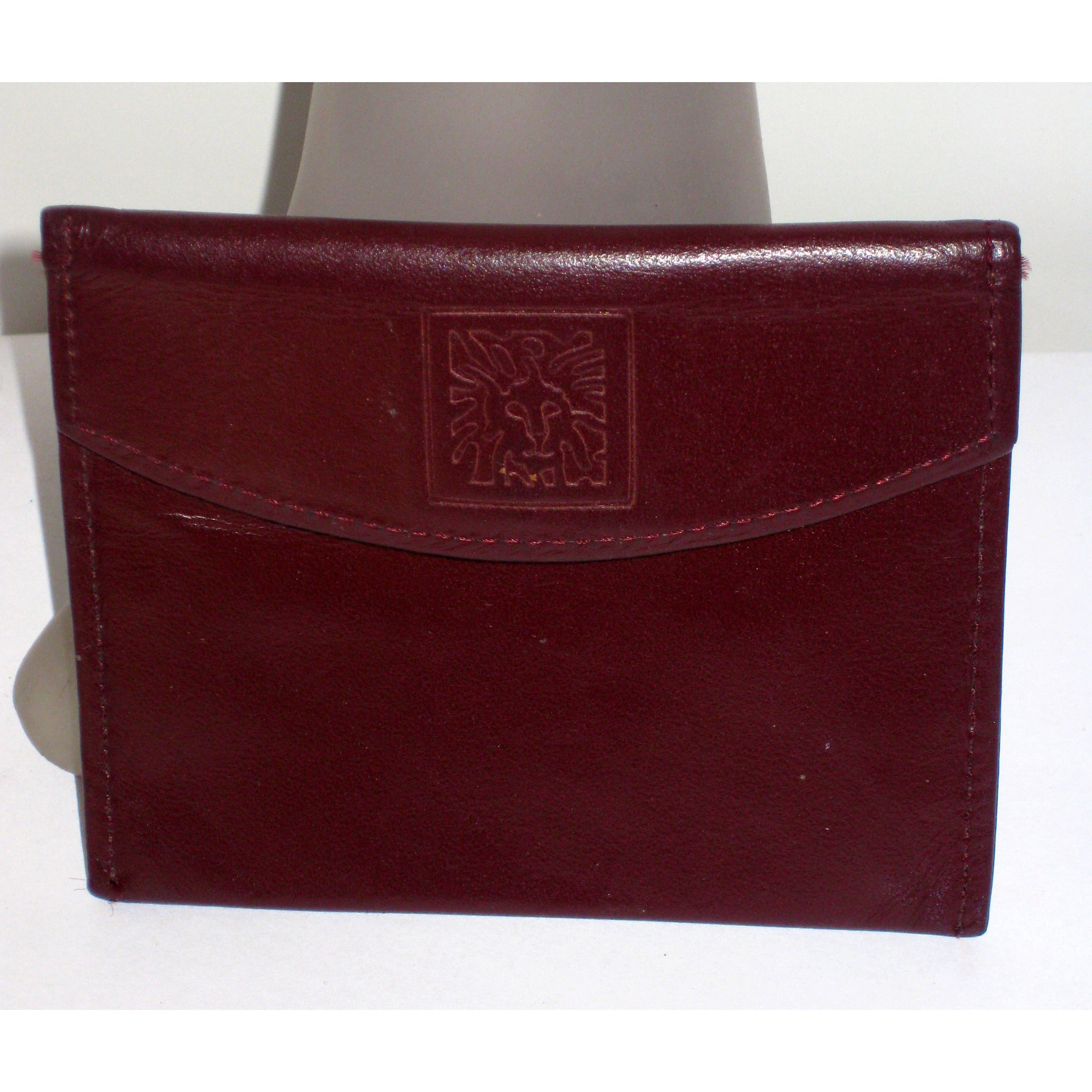 Vintage Leather Coin Wallet By Anne Klein