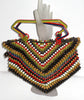 Vintage Czech Art Deco Colorful Wooden Beaded Purse