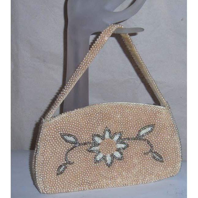 Vintage Pearl Beaded Evening Purse