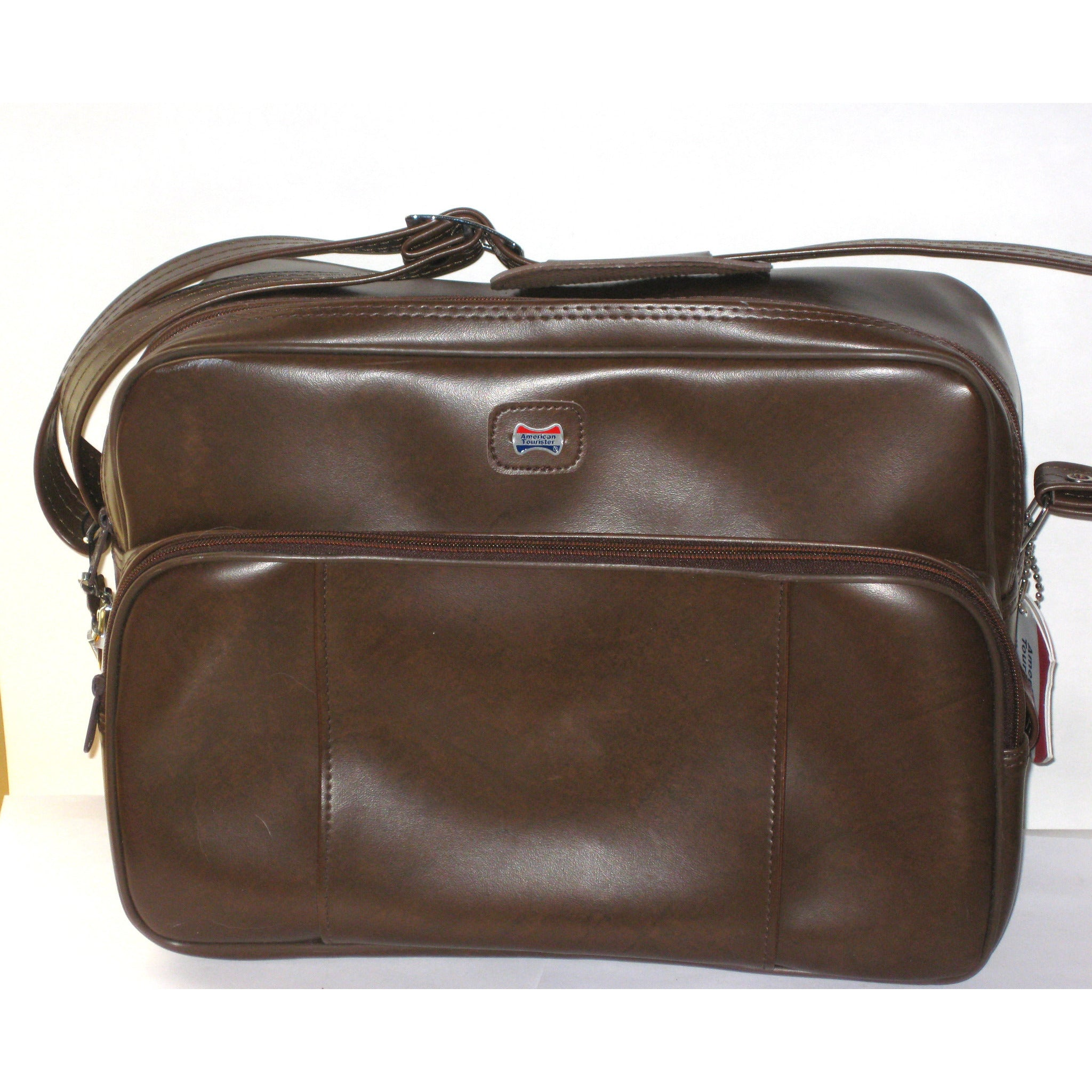 Vintage Brown Vinyl Travelbag By American Tourister