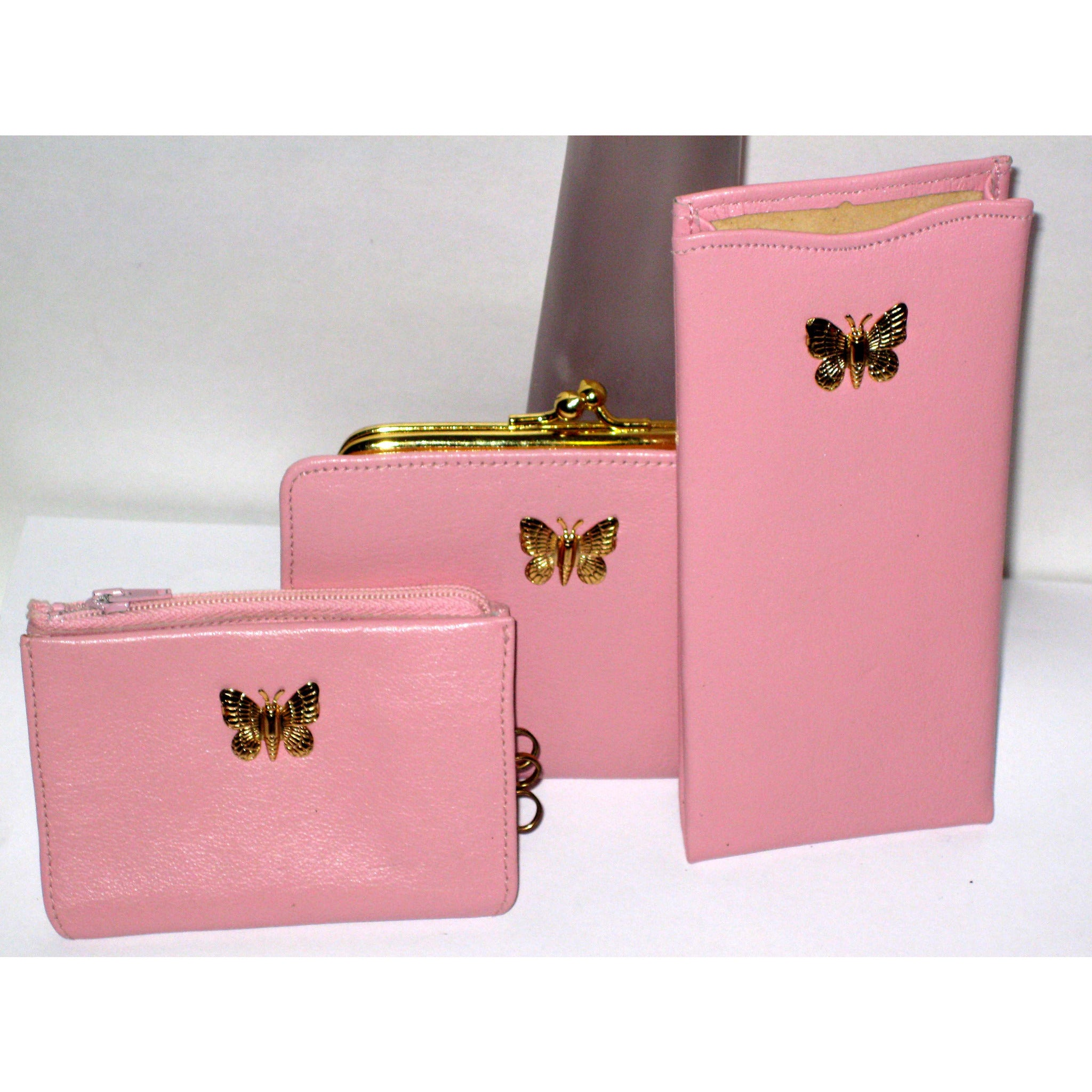 Vintage Pink Butterfly Wallet Set By Bond Street