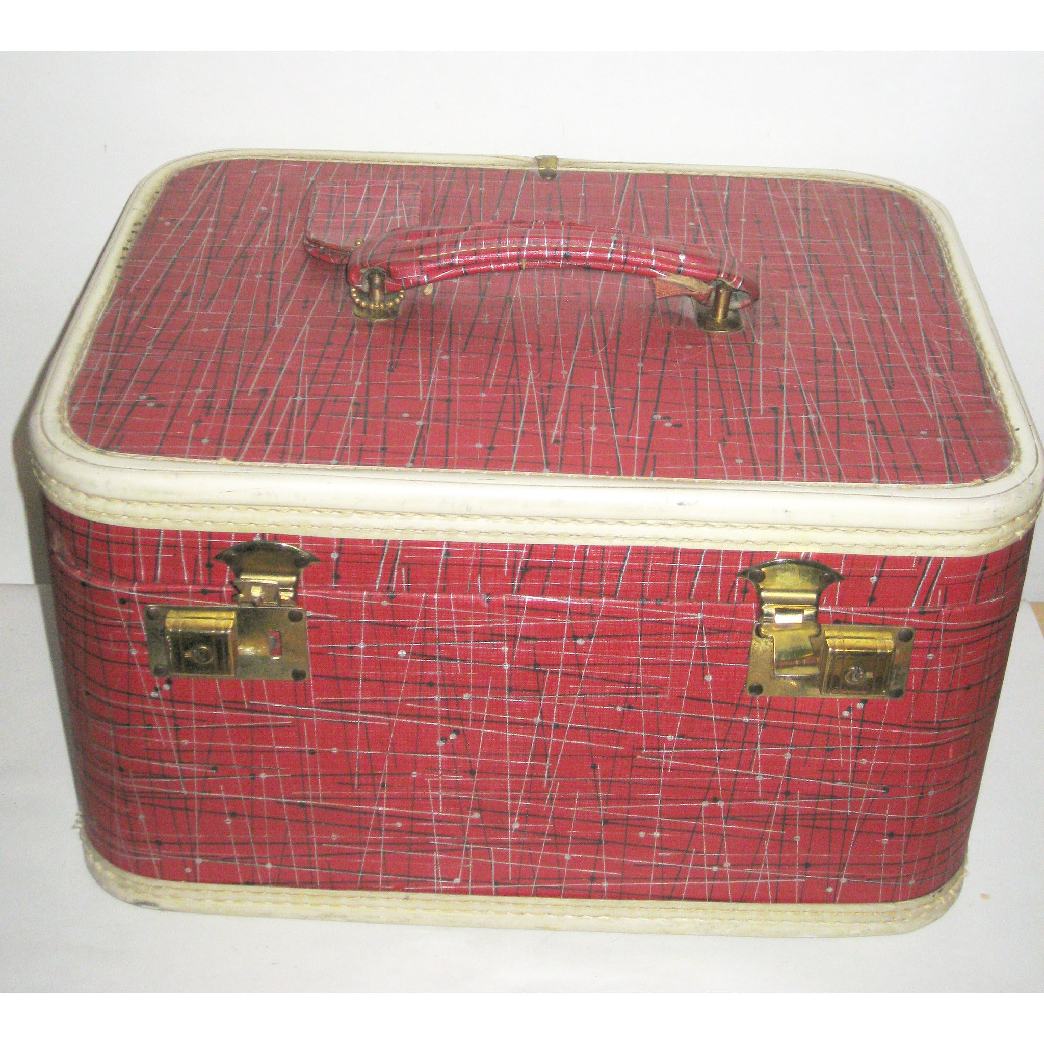 Vintage Mod Atomic Red Train Case
