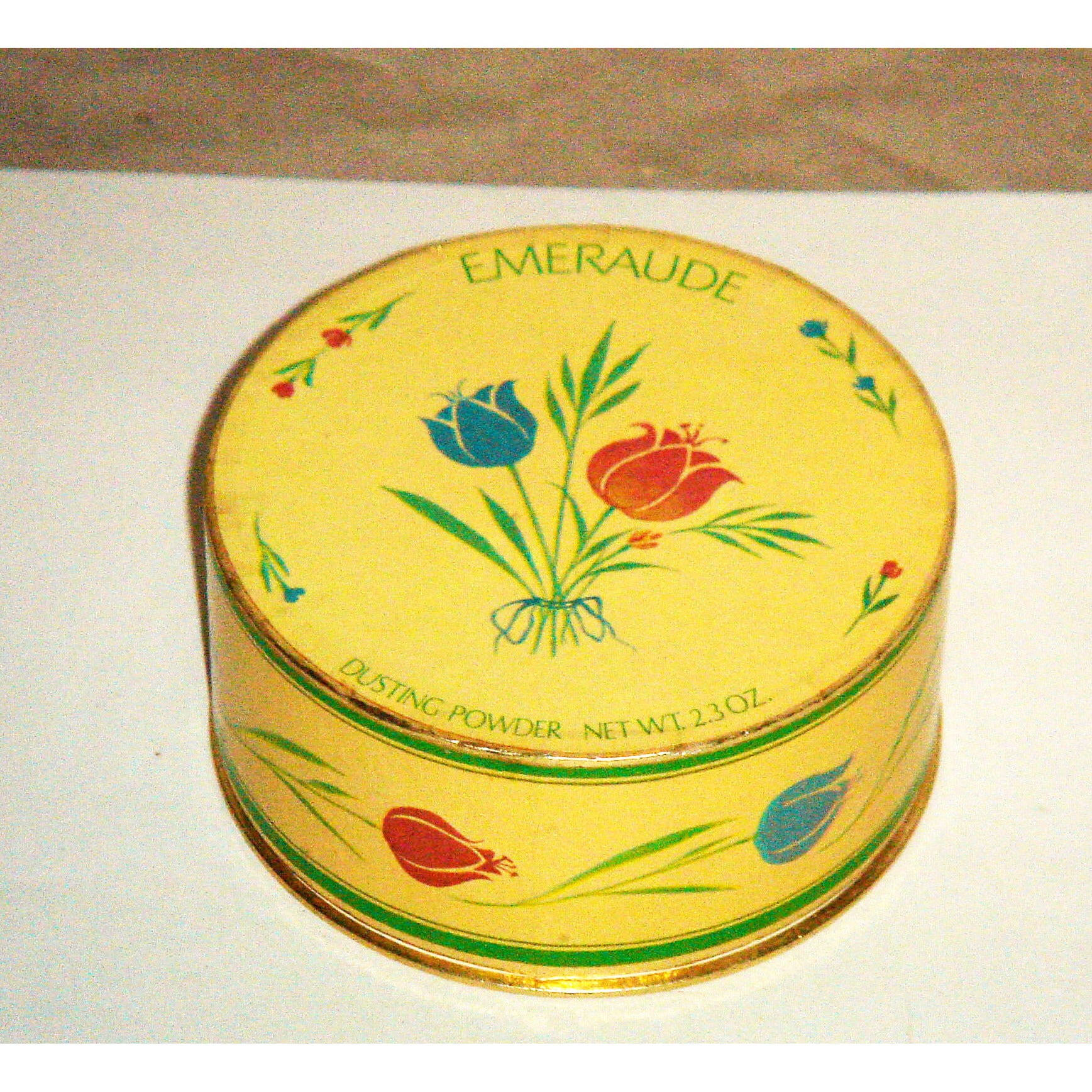 Vintage Emeraude Dusting Powder By Coty