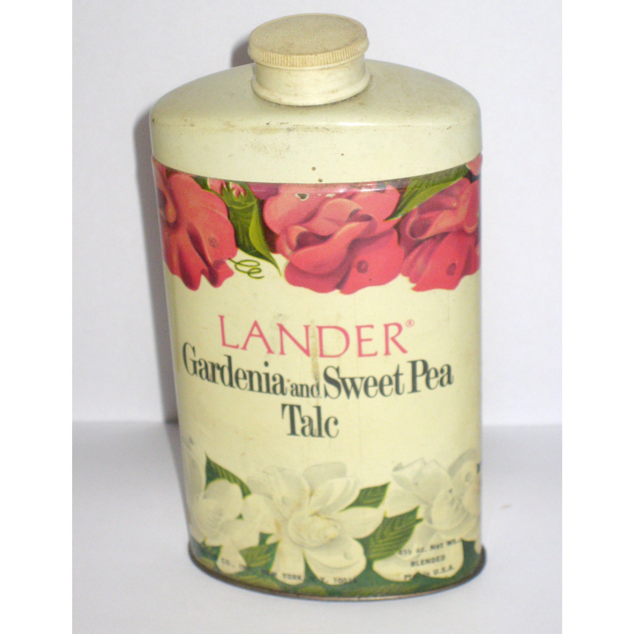 Vintage Gardenia and Sweet Pea Talc By Lander