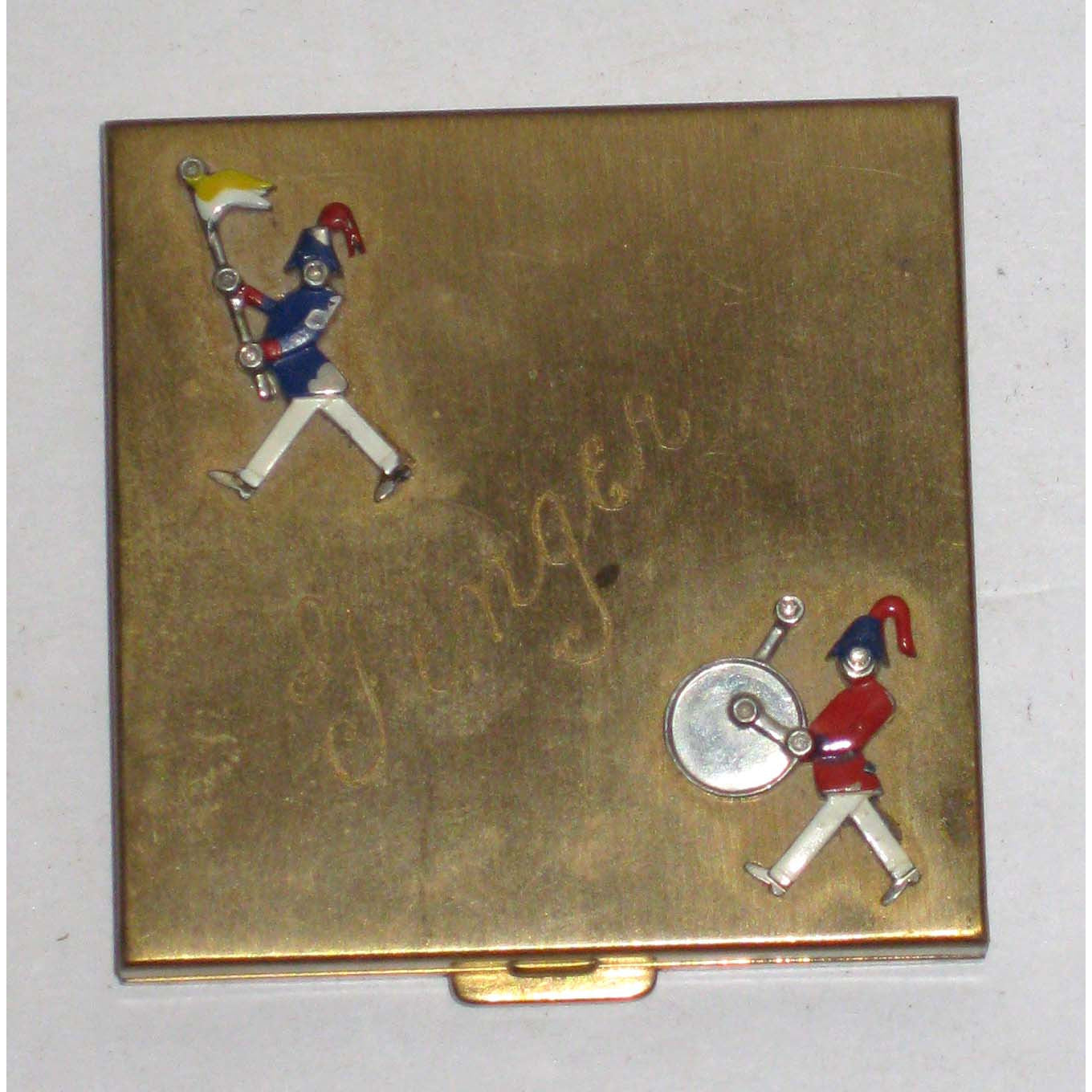 Vintage Marching Band Enamel Compact By Volupte
