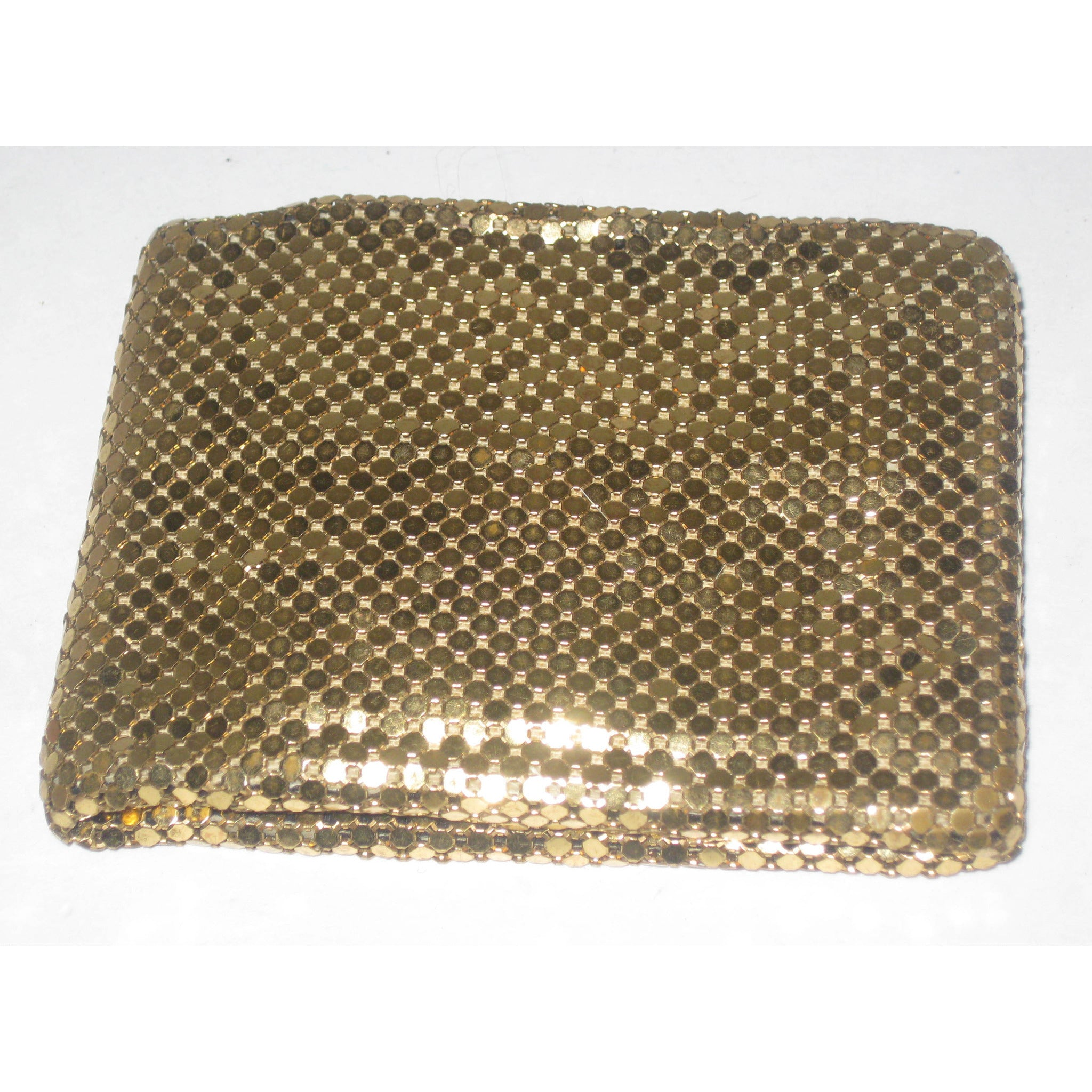 Vintage Gold Mesh Billfold Wallet By Whiting & Davis