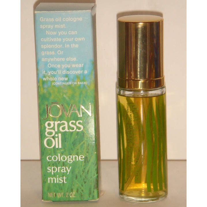 Vintage Jovan Grass Oil Cologne Spray Mist